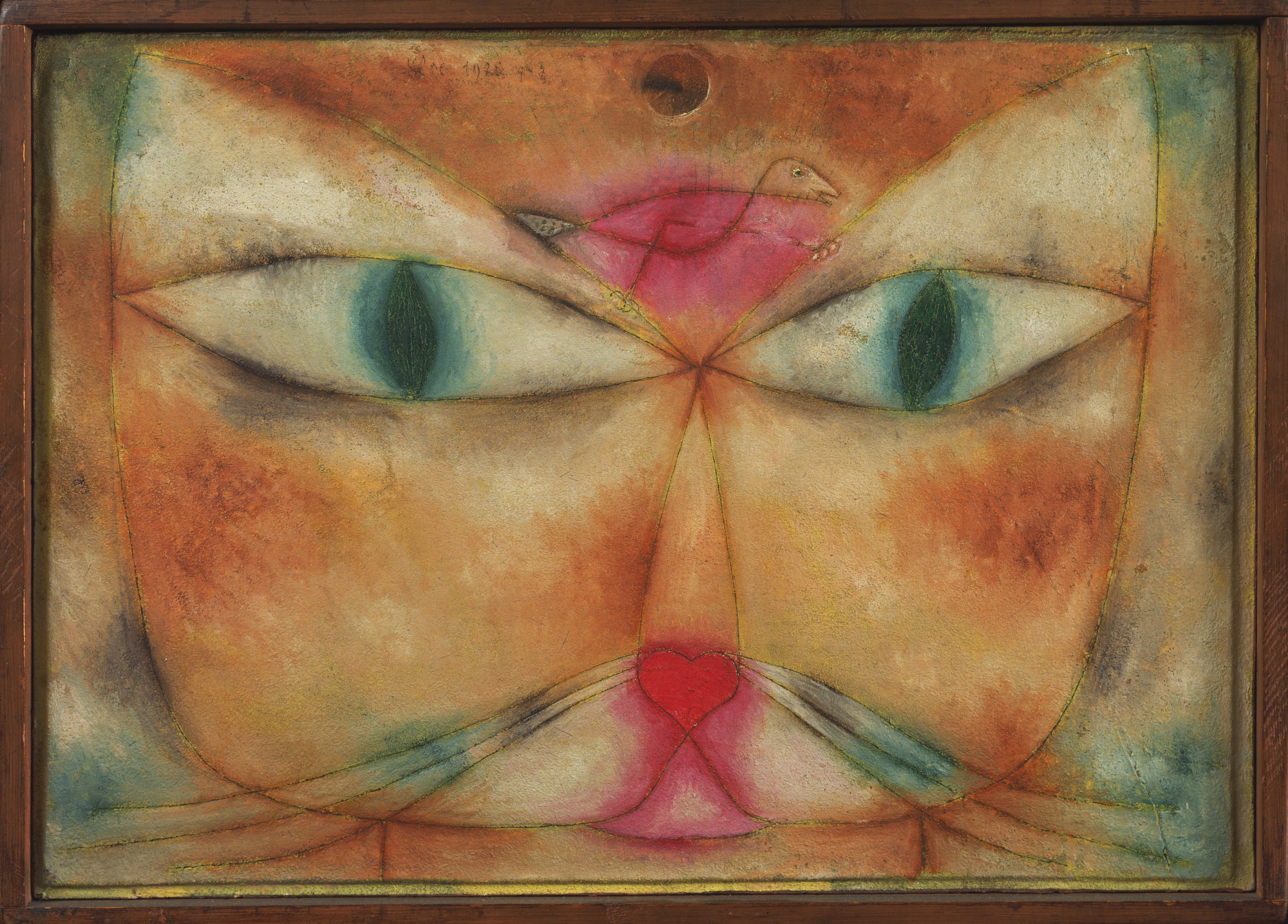 Image result for cat and bird by paul klee