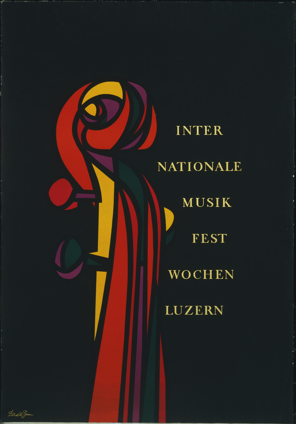 Donald Brun. Internationale Musikfestwochen, Luzern. 1950