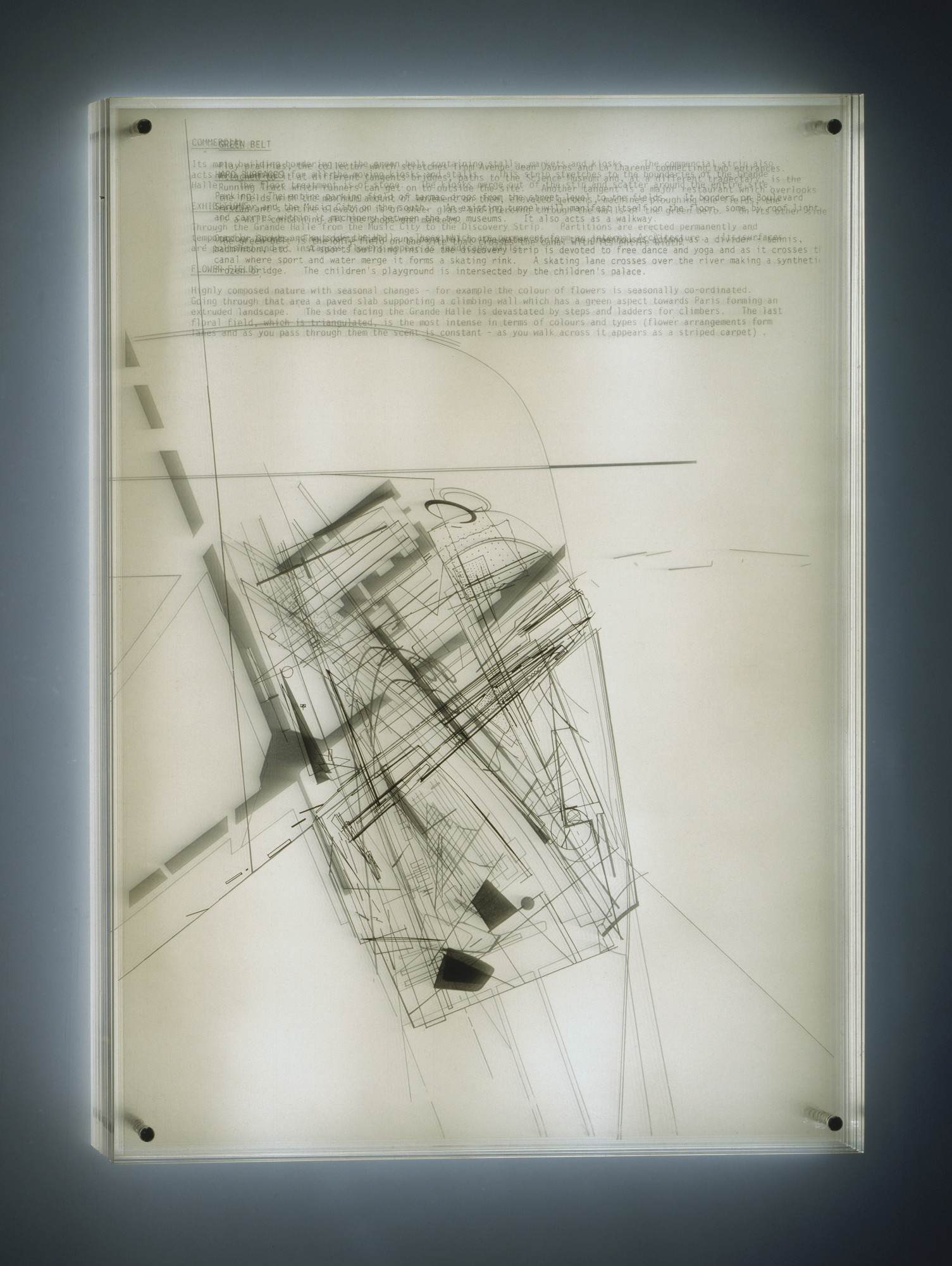 Zaha Hadid. Parc de la Villette Project, Paris, France (Plan). 1982-83