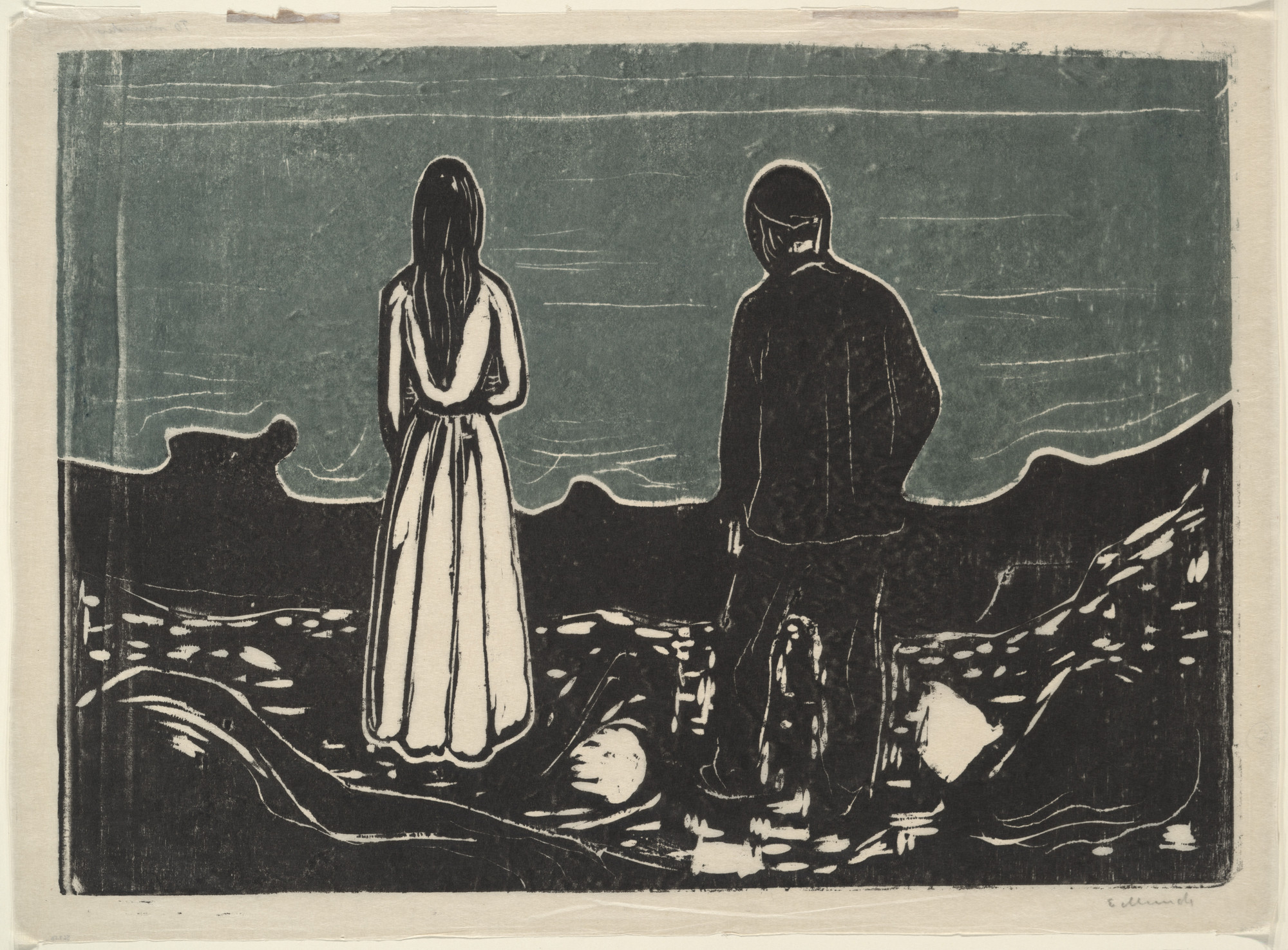 Edvard Munch. Two People. The Lonely Ones (To mennesker. De ensomme). 1899