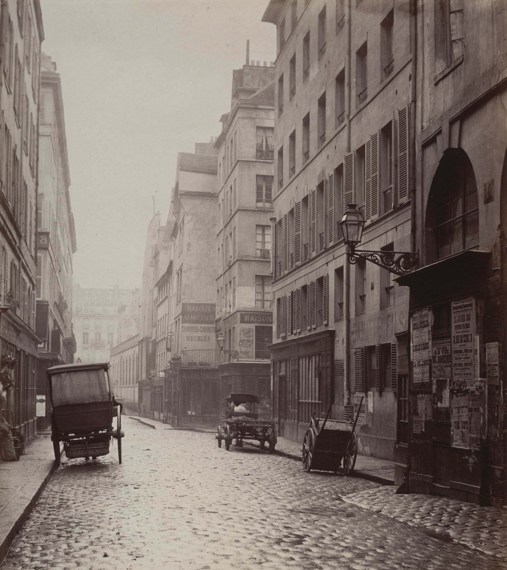 Charles Marville. Rue du Cygne Seen from Rue Mondétour. 1866