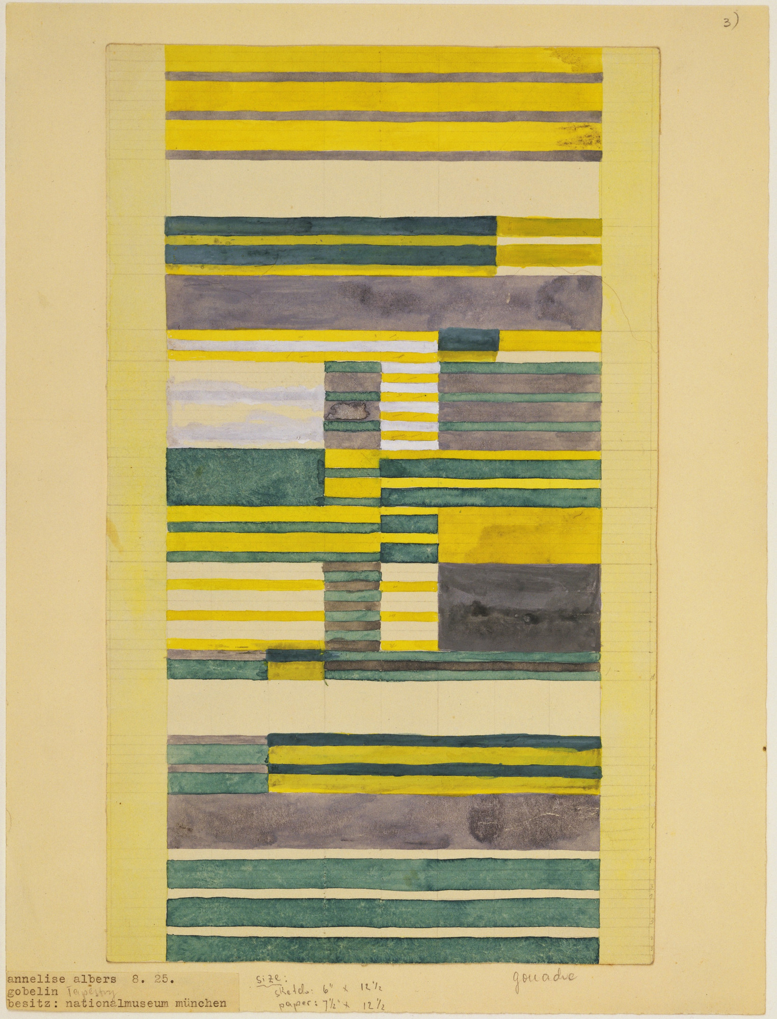 Anni Albers. Design for Wall Hanging. 1925