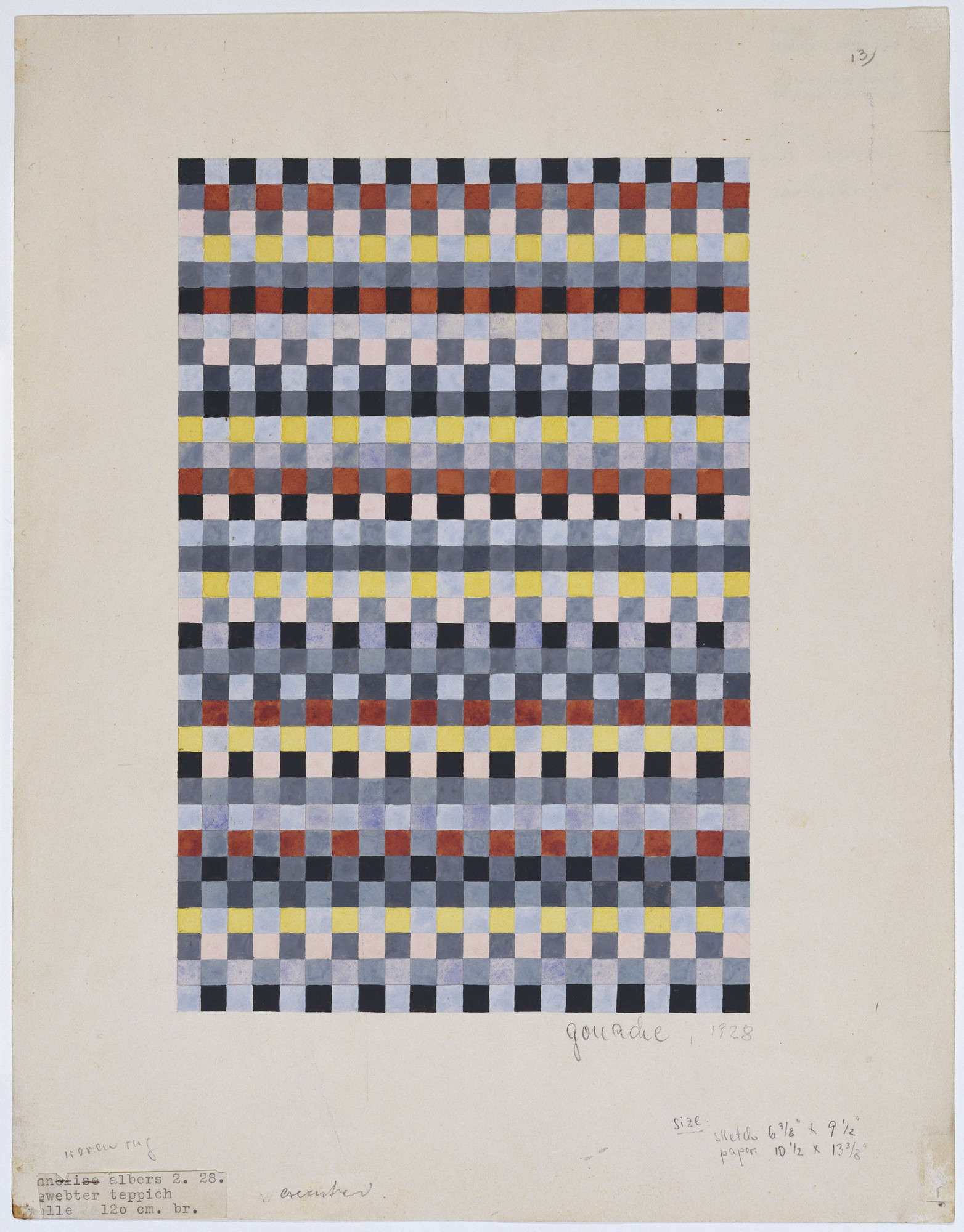 Anni Albers. Rug Design for Child's Room. 1928