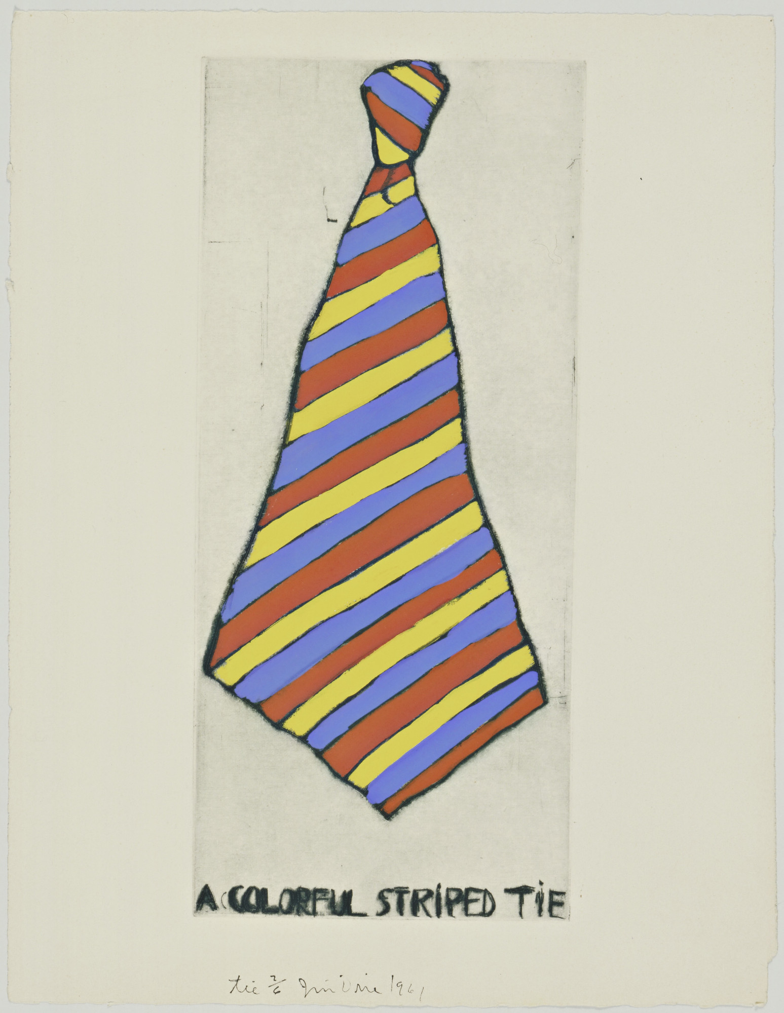 Jim Dine. Tie fromThese Are Ten Useful Objects Which No One Should Be Without When Traveling. 1961