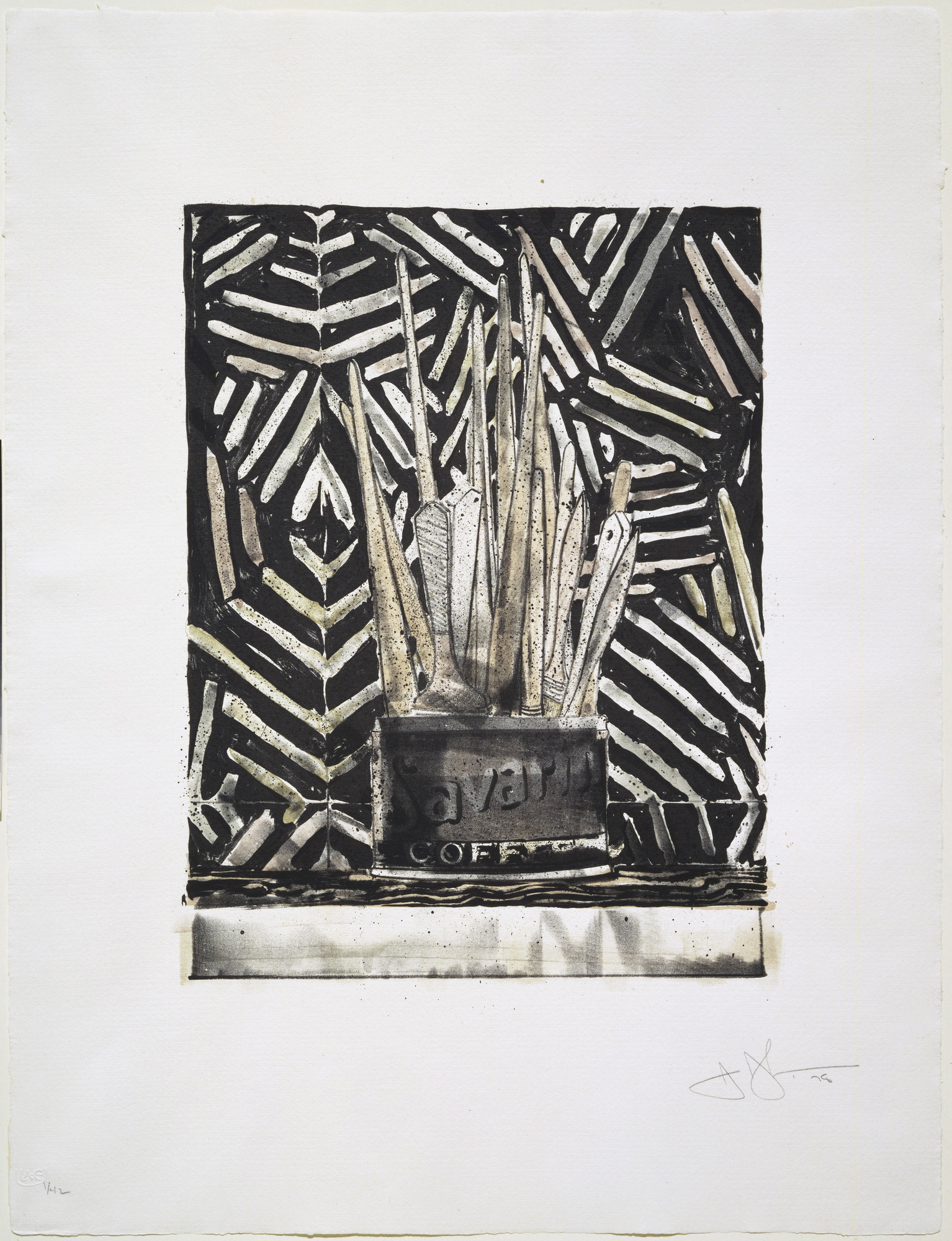 Jasper Johns. Savarin 5 (Corpse and Mirror). 1978
