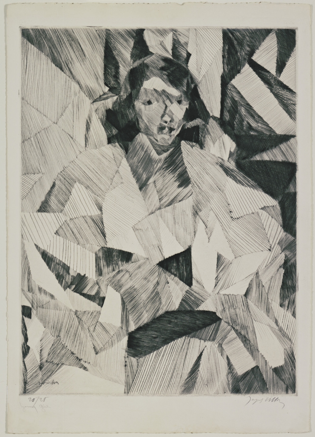 Jacques Villon. Front View of Yvonne D. (Yvonne D. de face). 1913
