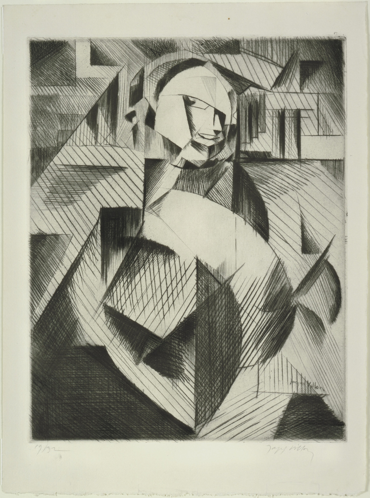 Jacques Villon. Portrait of an Actor (Félix Barré) [Portrait de un acteur (Félix Barré)]. 1913