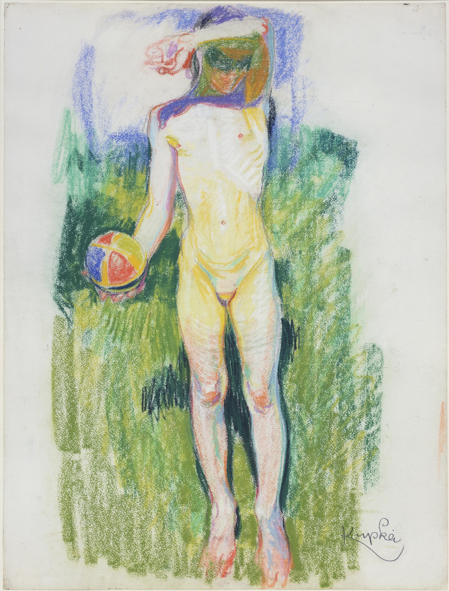 František Kupka. Girl with a Ball. c. 1908