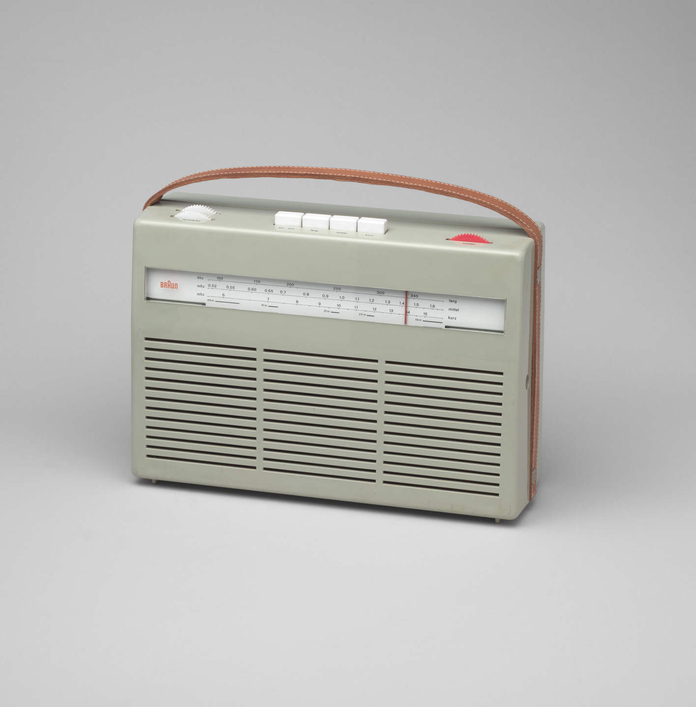 Dieter Rams. Portable Transistor Radio (model T 24). 1956