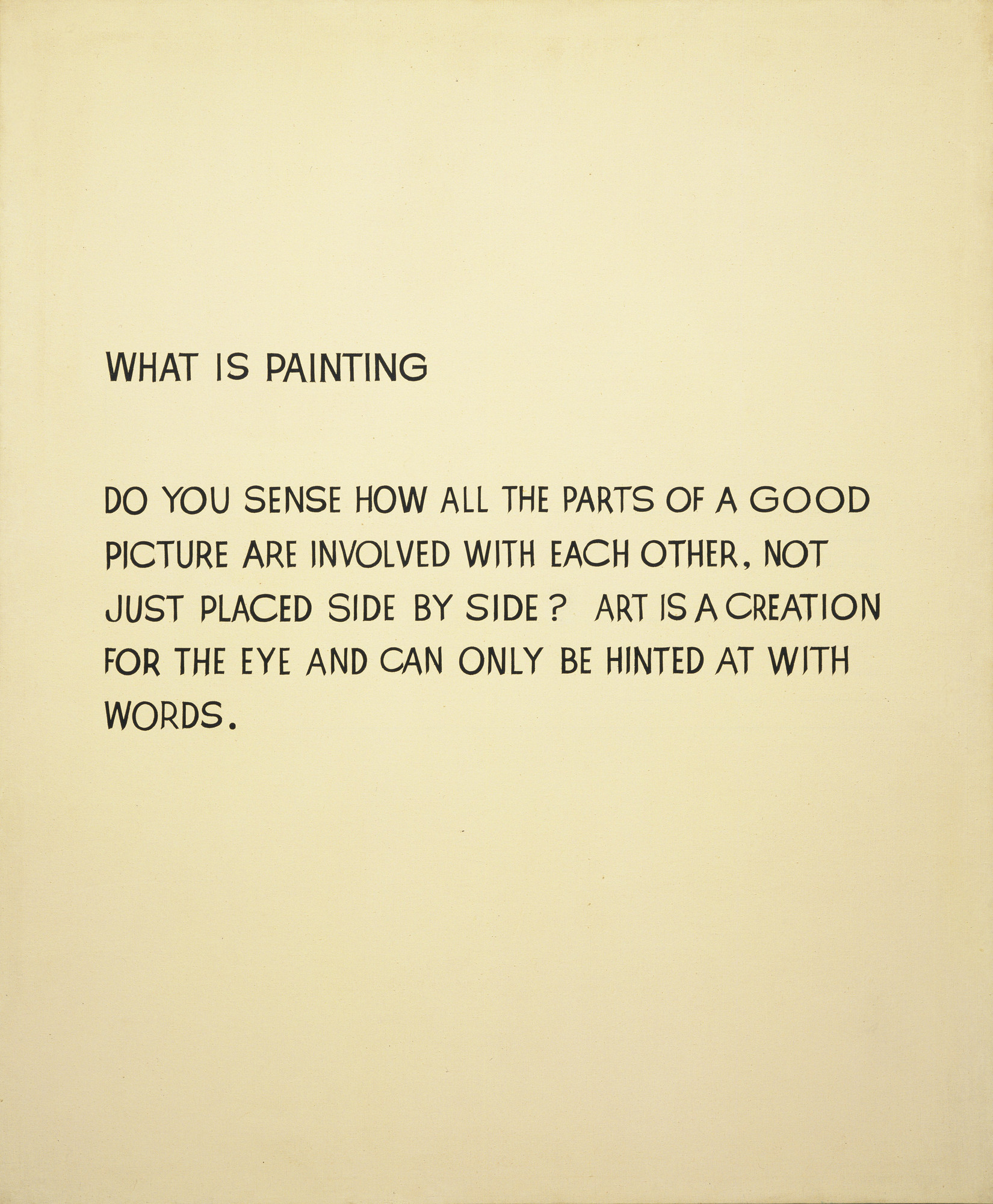 john baldessari what is painting 1966 68 moma