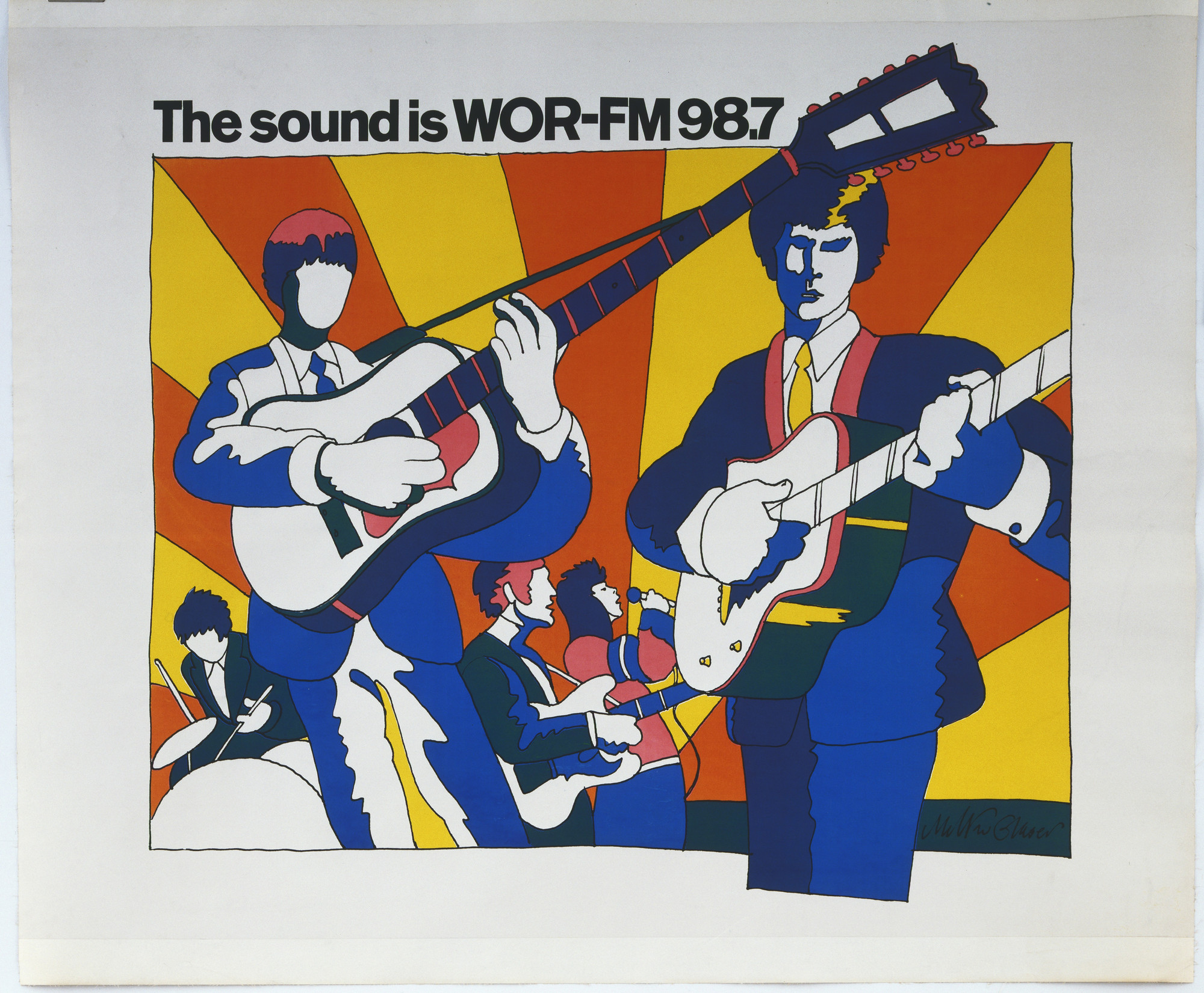 Milton Glaser. The Sound is WOR-FM 98.7. 1966