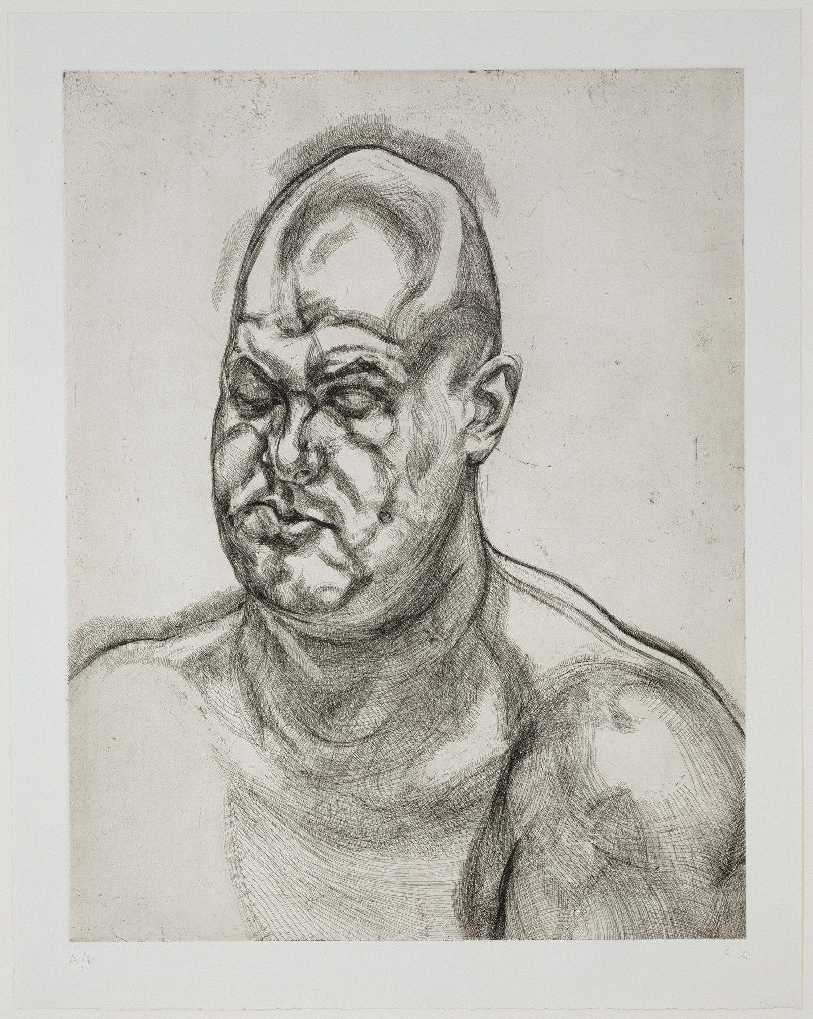 Lucian Freud. Large Head. (1993)