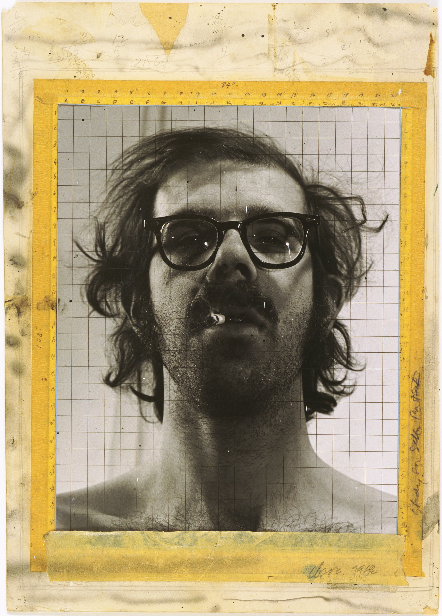 Chuck Close. Study for Self-Portrait. 1968