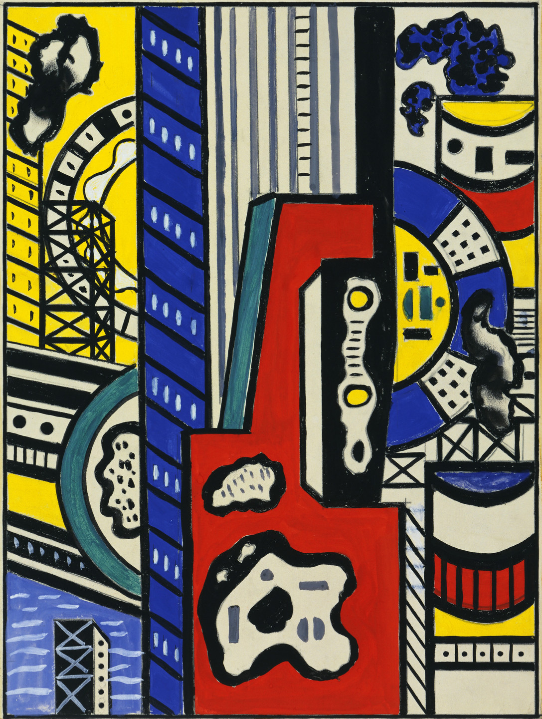 Fernand Léger. Study for Cinematic Mural, Study IV. 1938–39