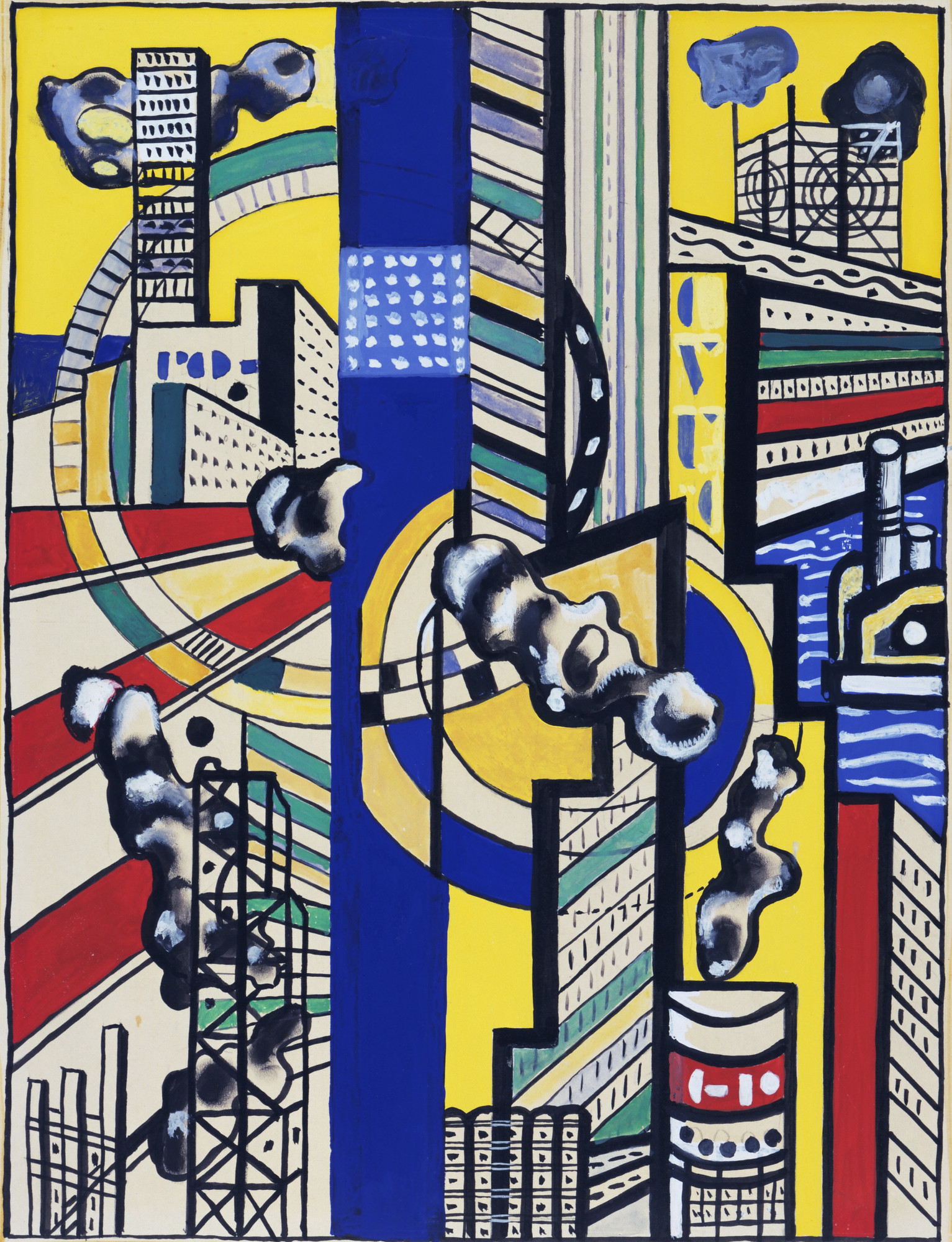Fernand Léger. Study for Cinematic Mural, Study V. 1938–39