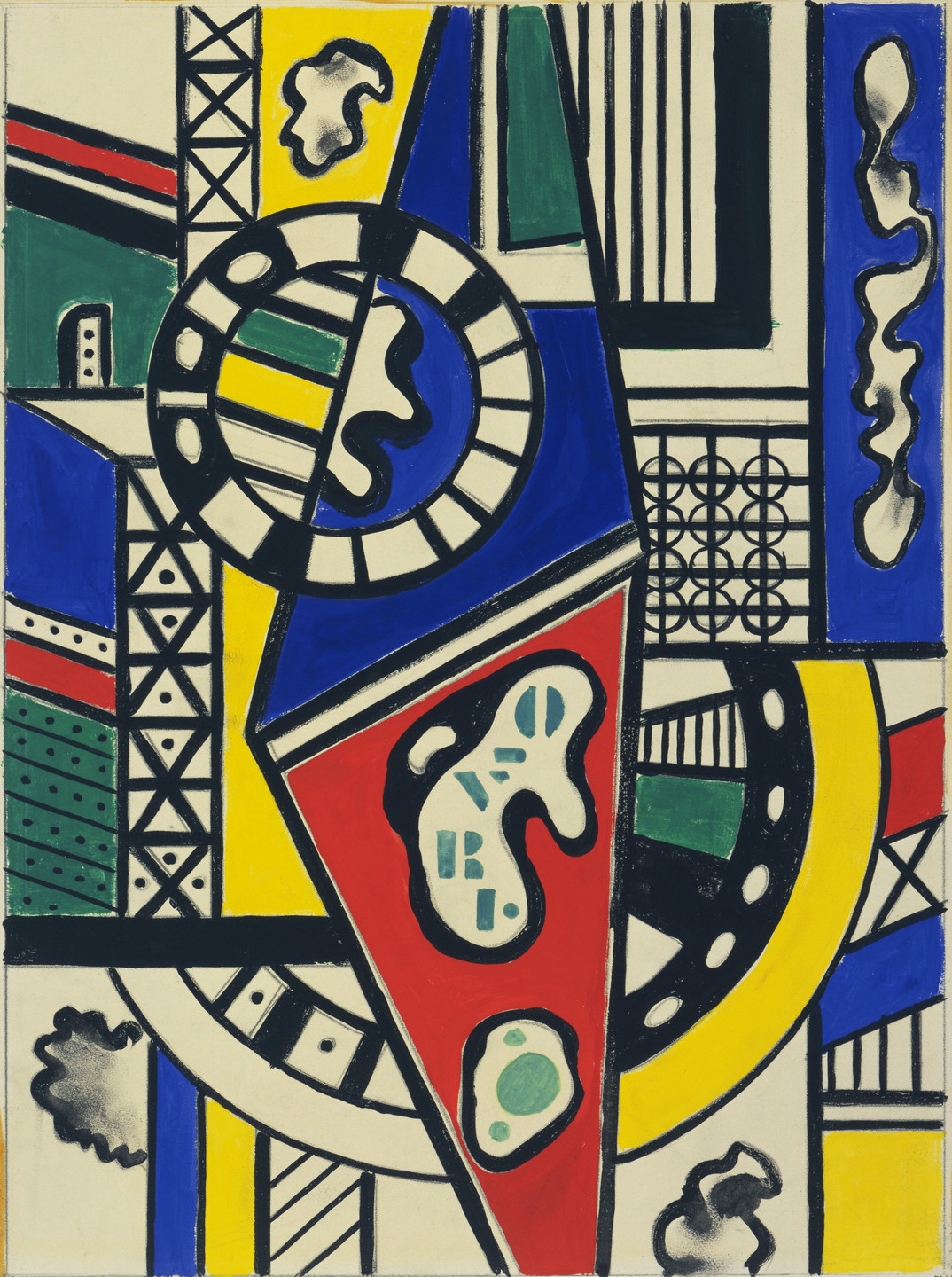 Fernand Léger. Study for Cinematic Mural, Study VII. 1938–39