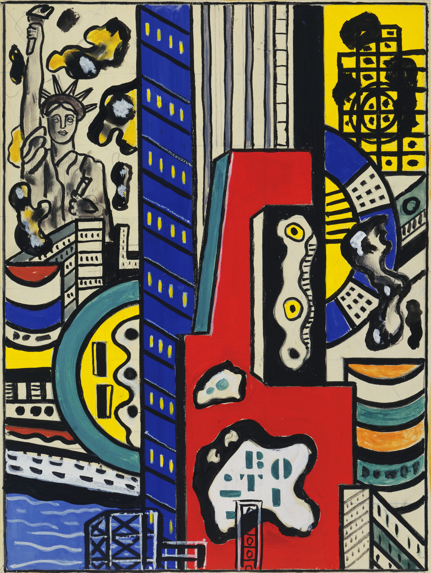 Fernand Léger. Study for Cinematic Mural, Study III. 1938–39