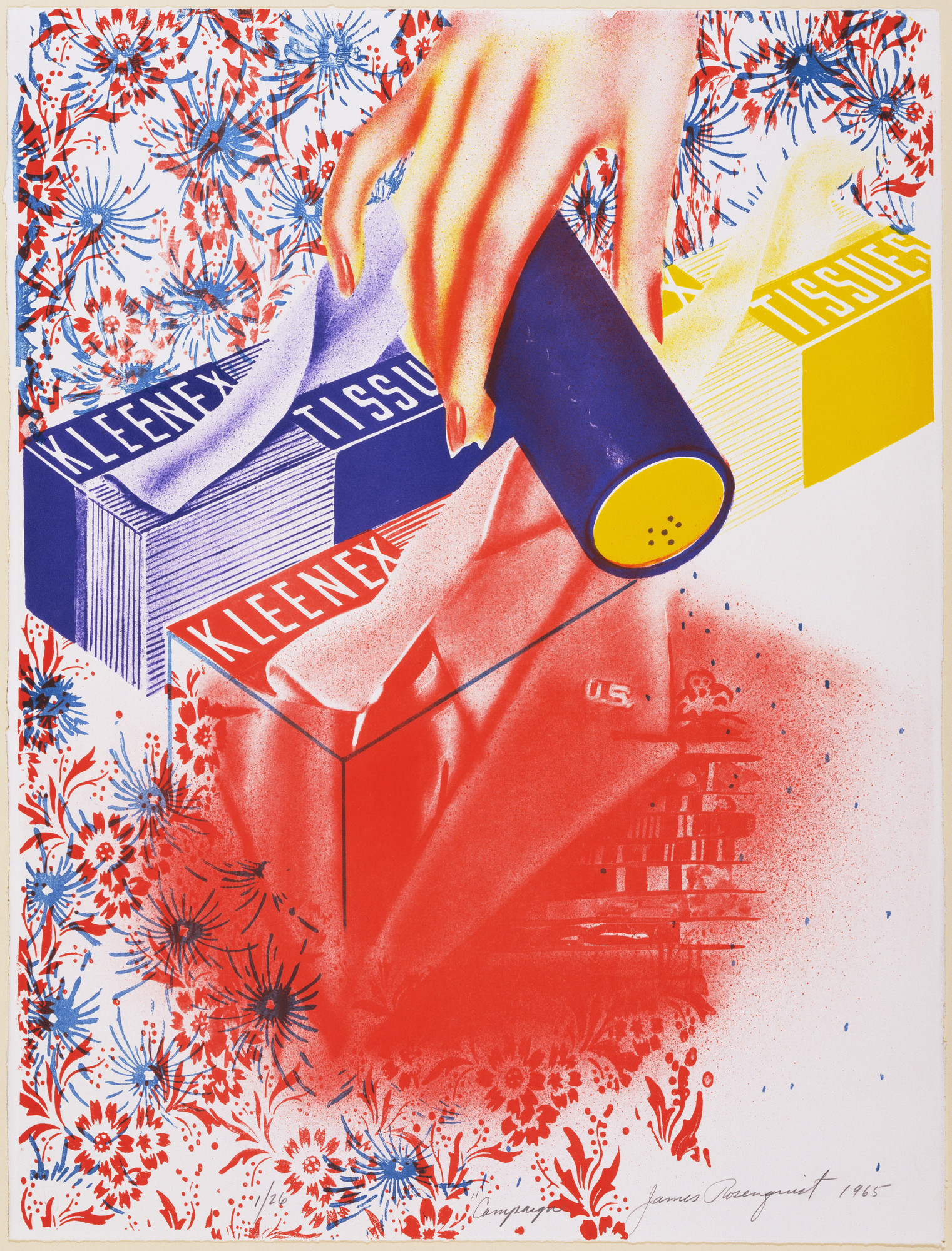 James Rosenquist. Campaign. 1965