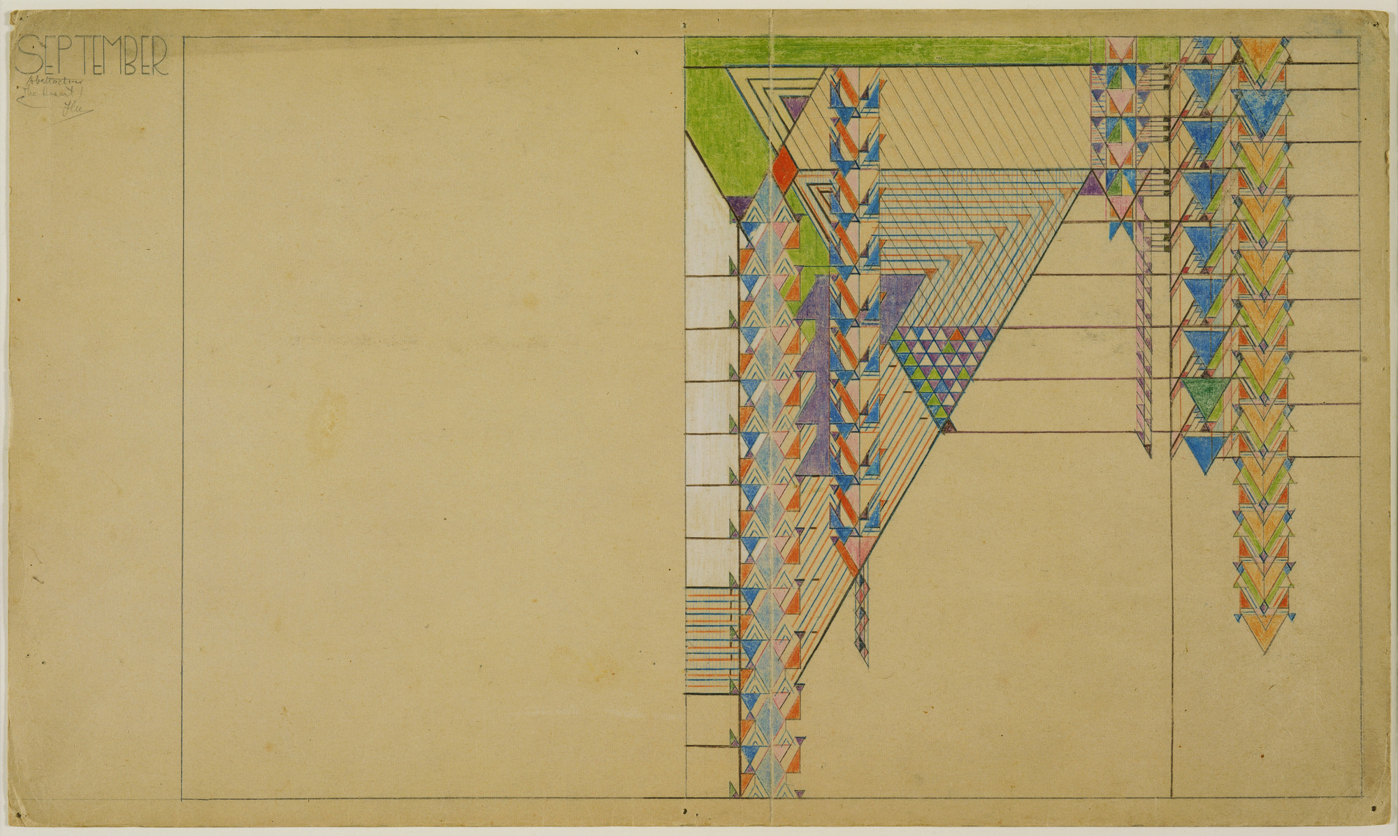 Frank Lloyd Wright. September Abstractions, The Desert, design for Liberty Magazine cover. (1926-27)