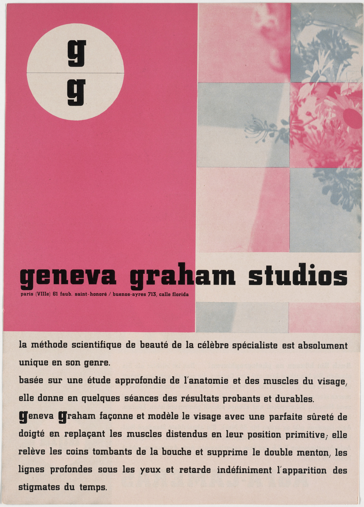 Georg Trump. Side 1: Geneva Graham Studios; side 2: AGFA-Cameras Geneva. c. 1931