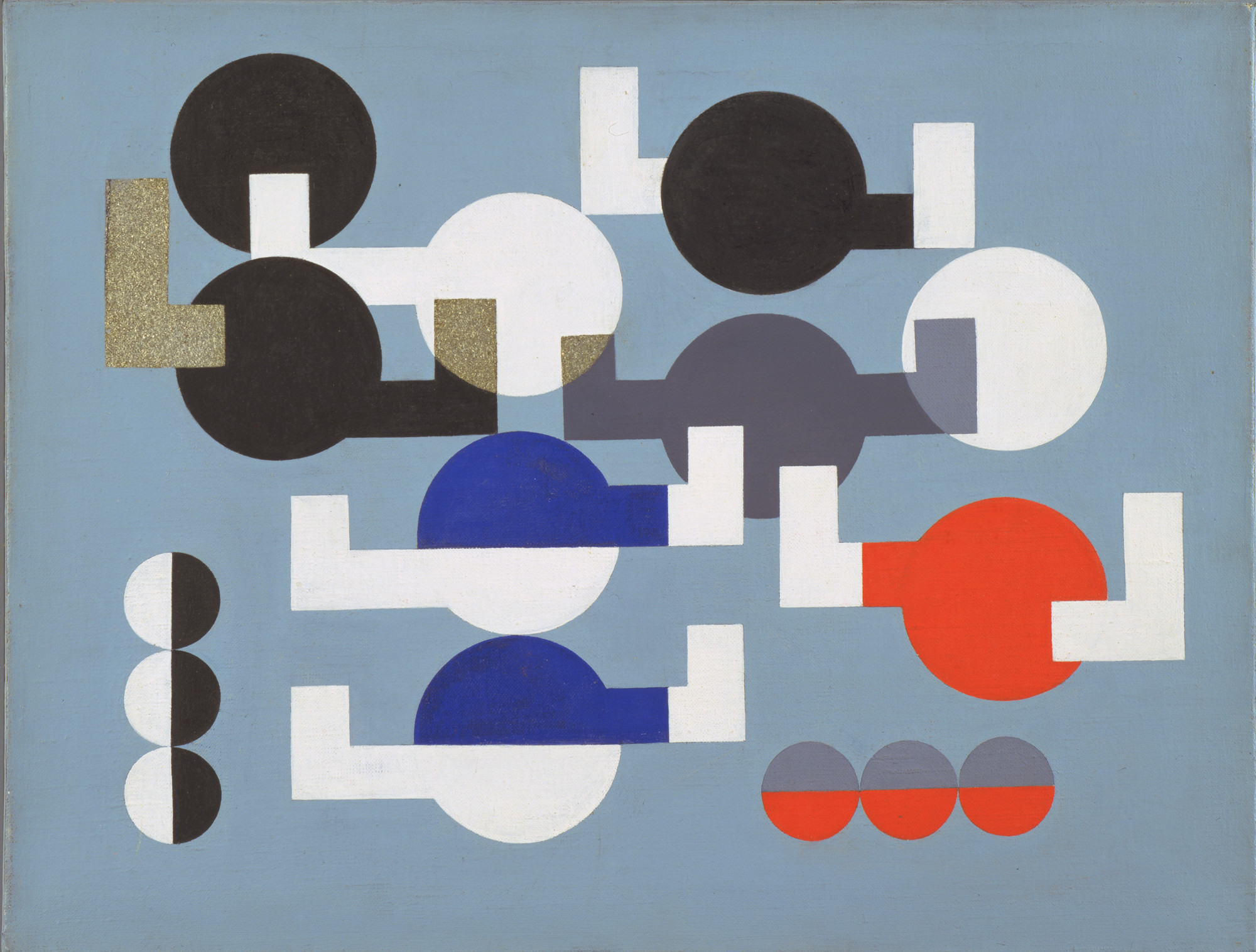 Sophie Taeuber-Arp. Composition of Circles and Overlapping Angles. 1930