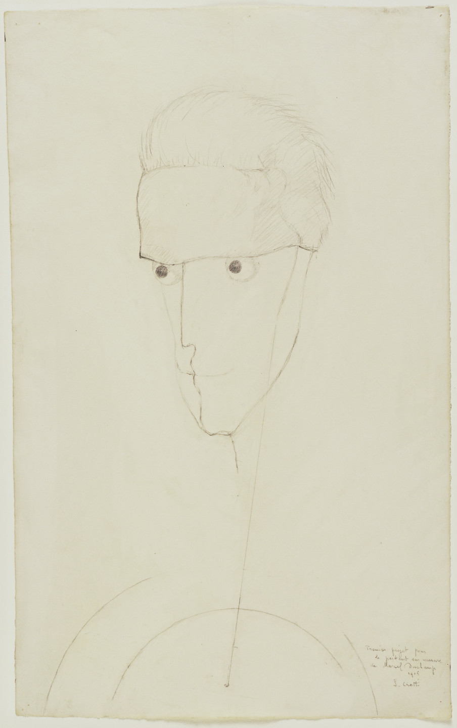 Jean Crotti. Marcel Duchamp. possibly early 1950s (inscribed 1915)