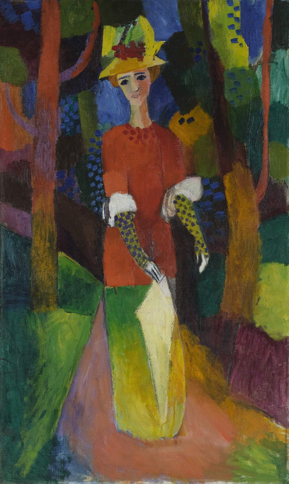 August Macke. Lady in a Park. July 1914