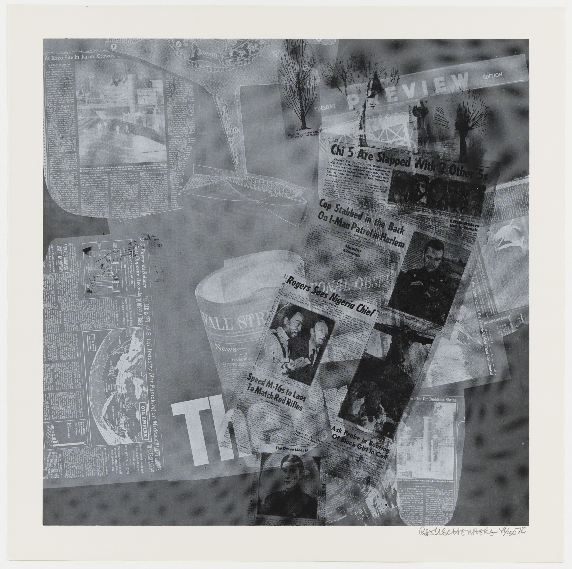 Robert Rauschenberg. Surface Series from Currents. 1970