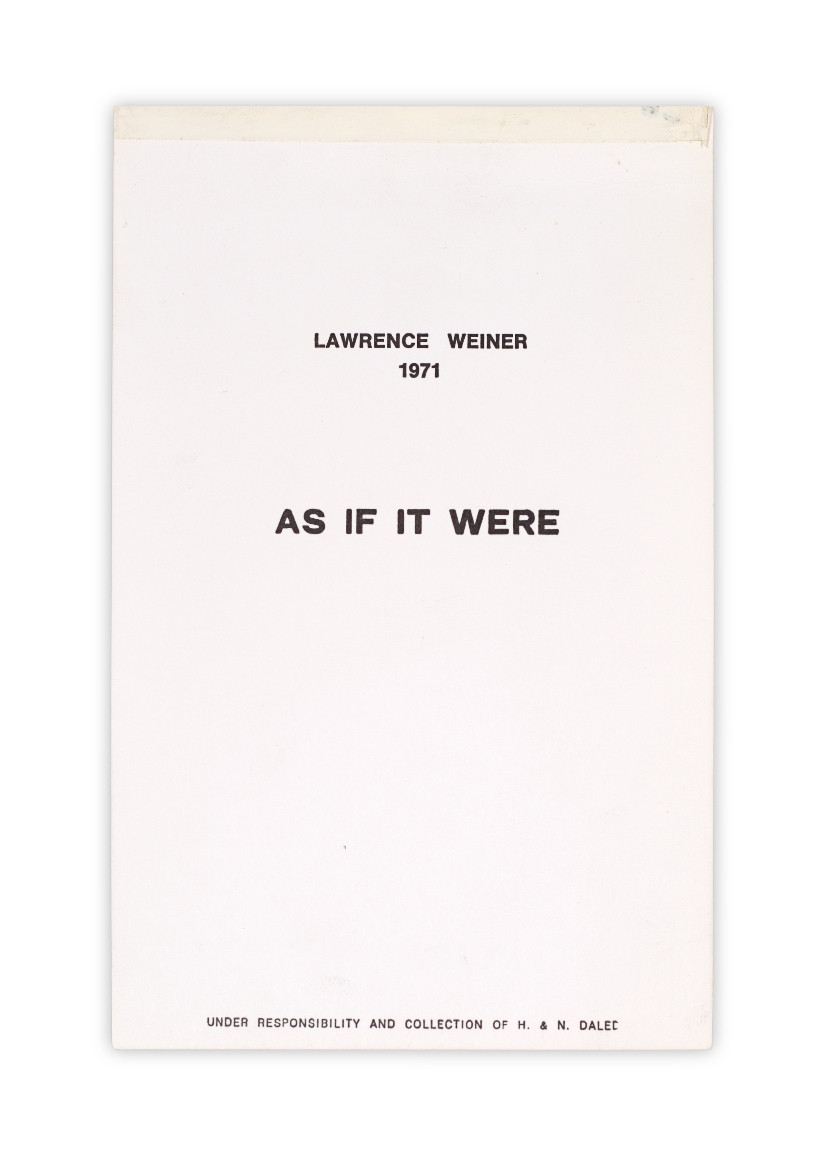 Lawrence Weiner. AS IF IT WERE. 1971
