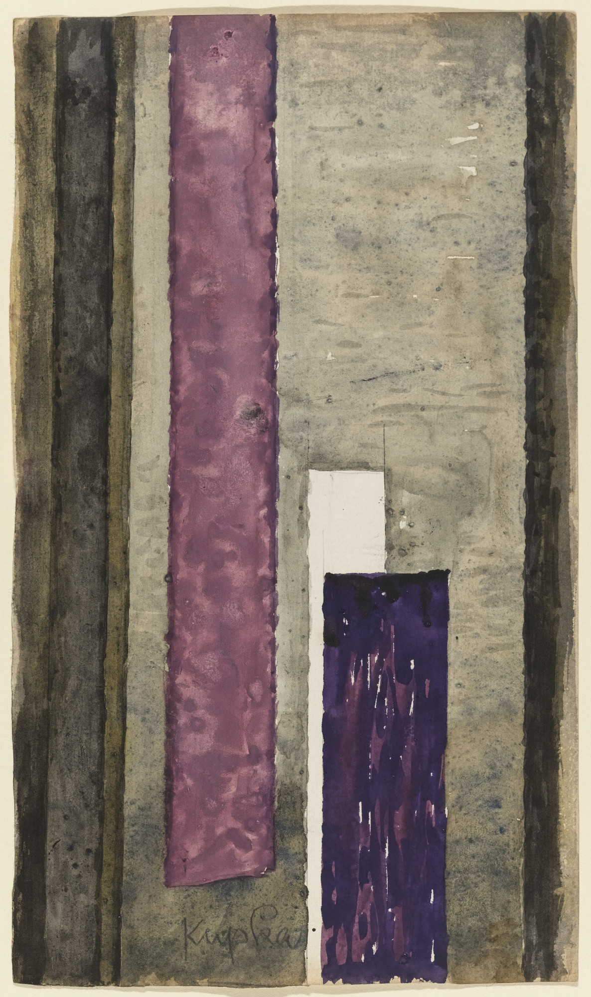 František Kupka. Replica (1946) of Vertical Planes. (1946)