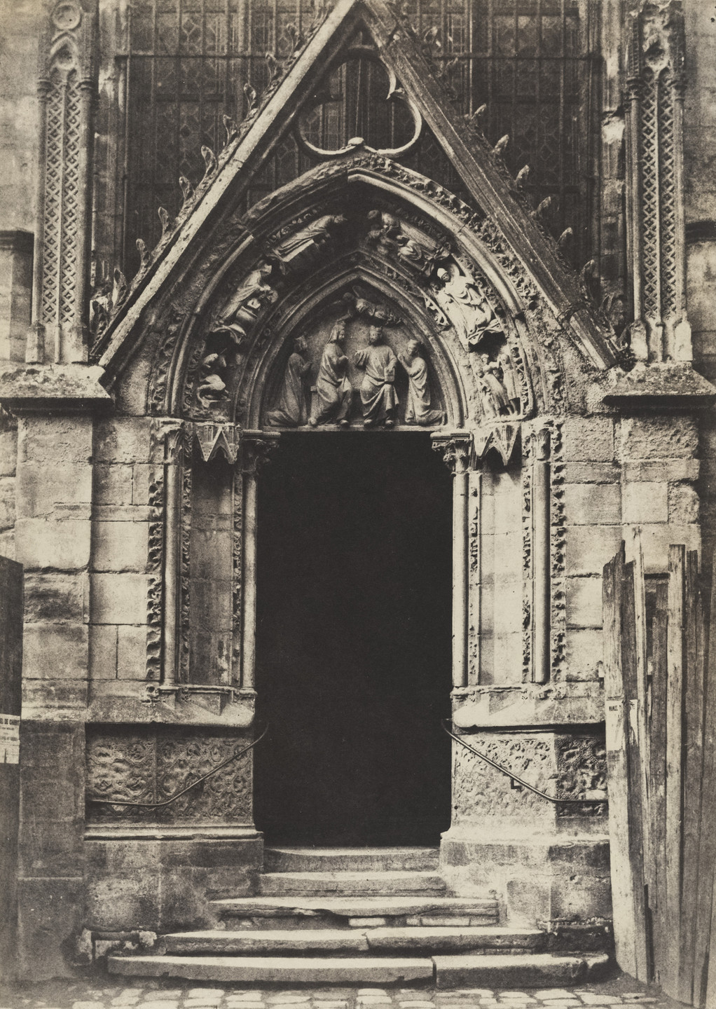 Henri Le Secq. The Red Door, Northern Façade of the Church of Notre Dame. c. 1851