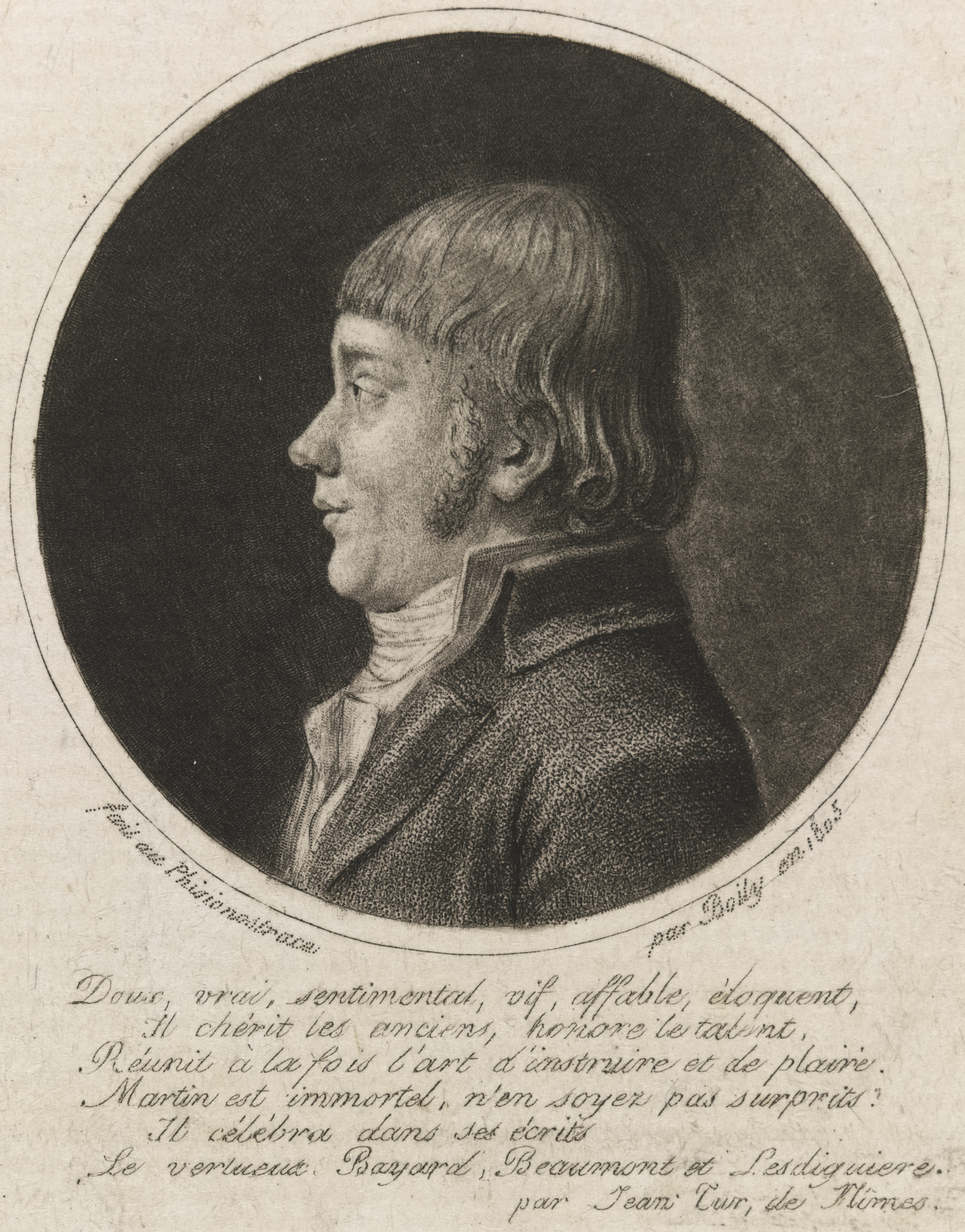 Charles Boily. Portrait of M. Martin. 1805