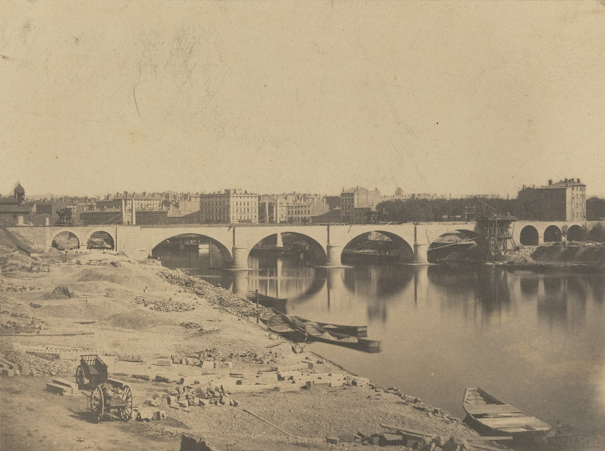 Camille Bernabé. Viaduct on the Saône. October 5, 1854