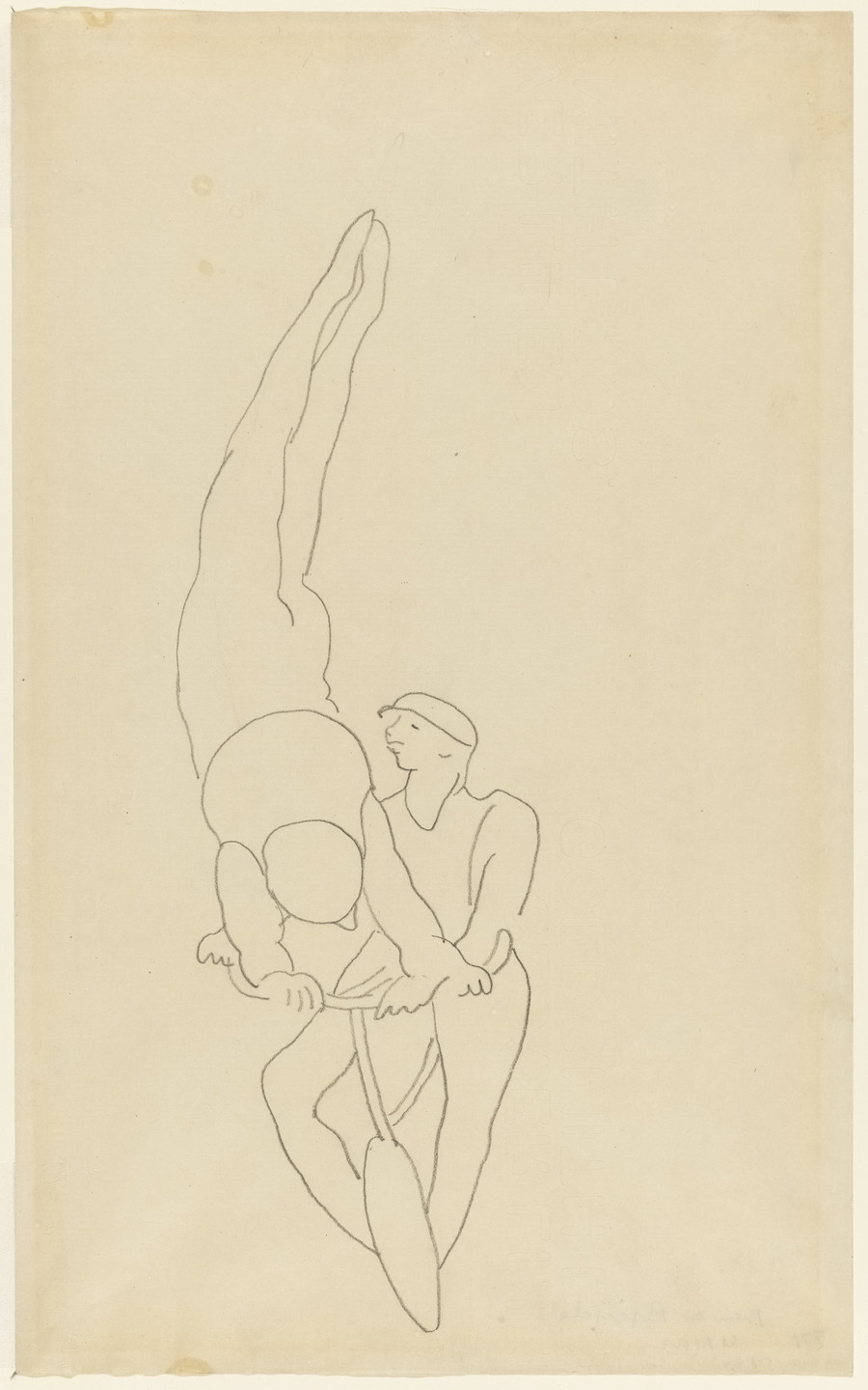 Charles Demuth. Study for Acrobats. (1919)