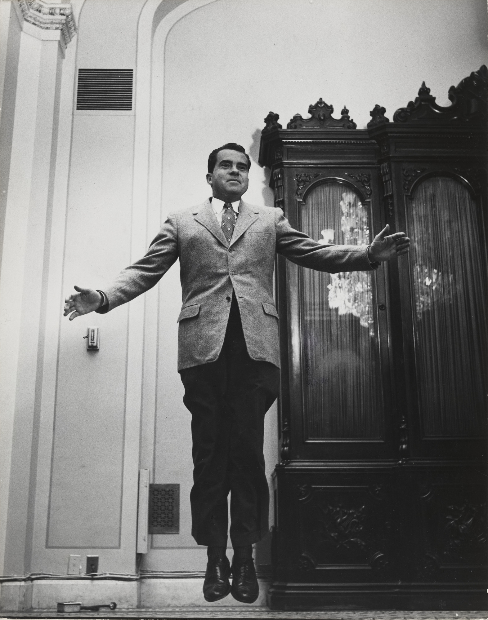 Philippe Halsman. Vice President Richard Nixon, White House. 1955