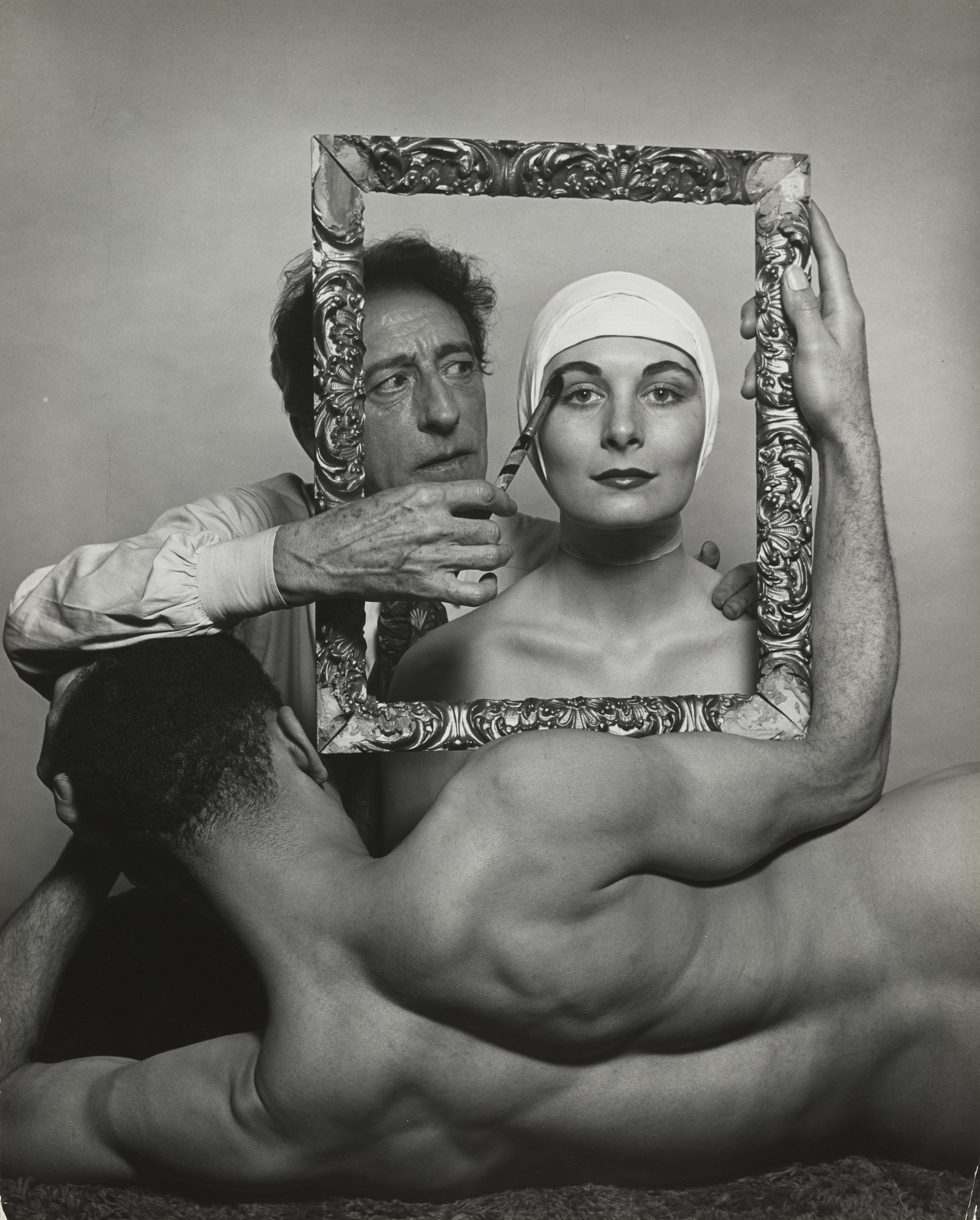 "Philippe Halsman. Jean Cocteau: ""The Final Touch"". 1949"
