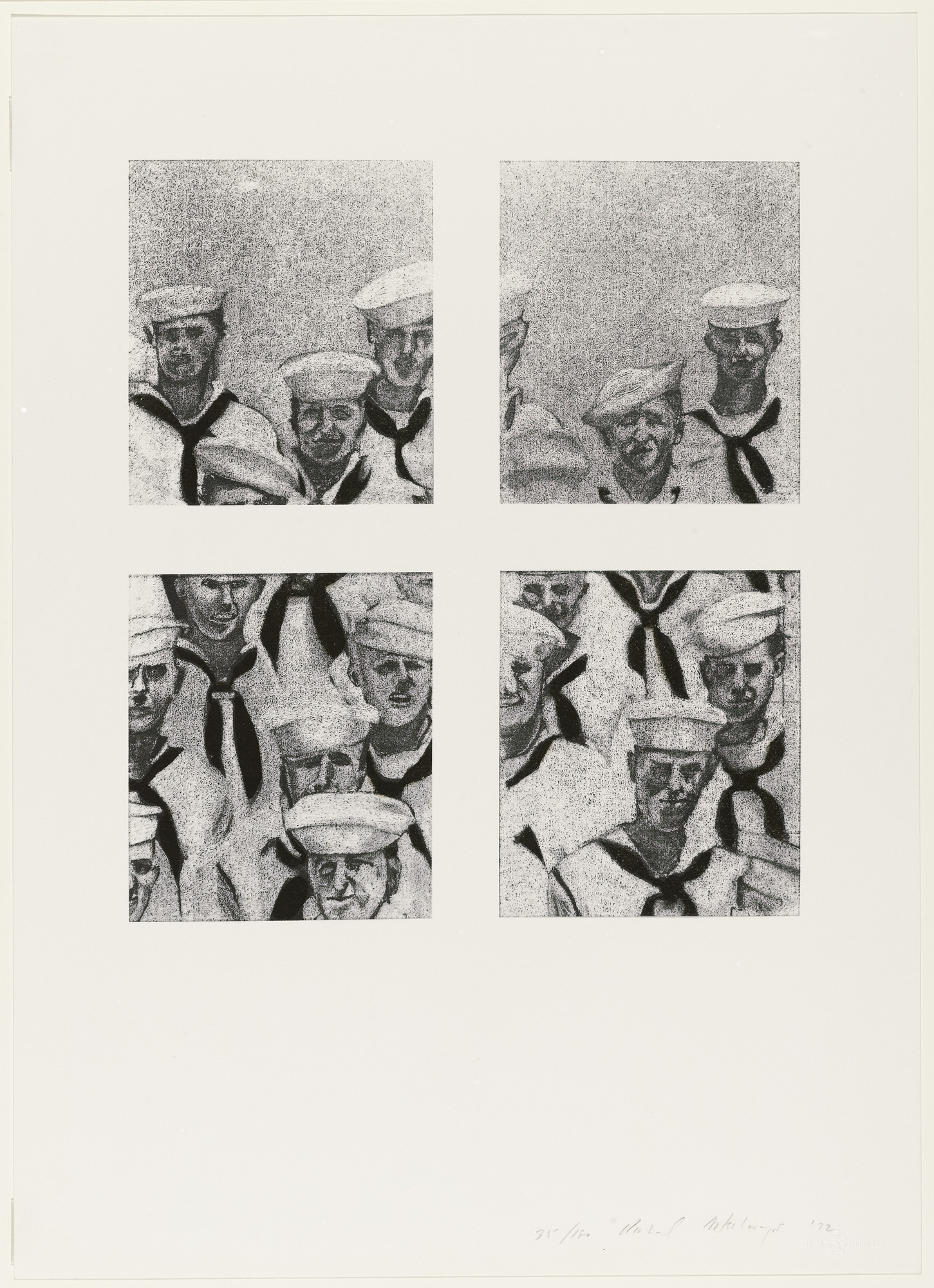 Richard Artschwager. Sailors from an untitled portfolio. 1972