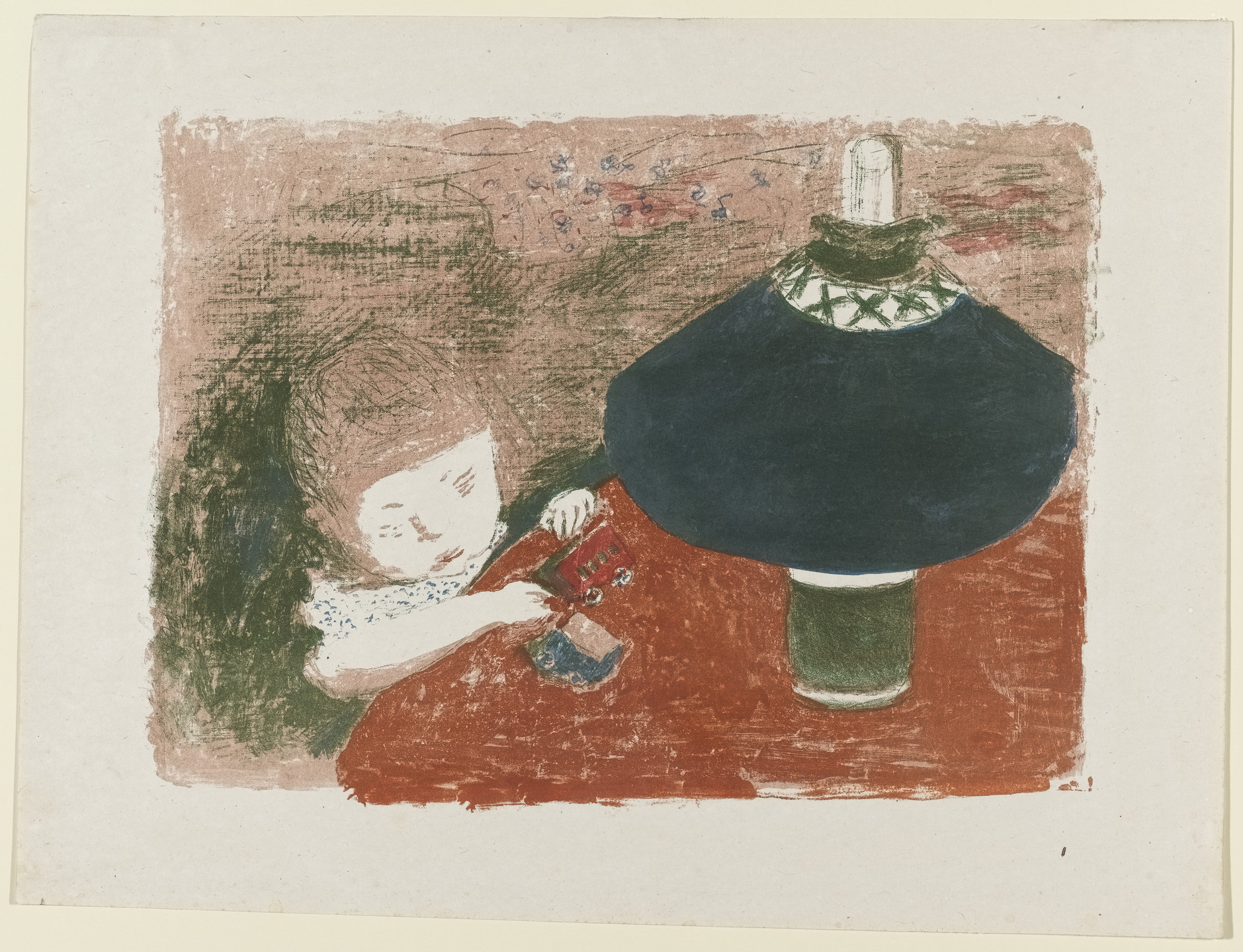 Pierre Bonnard. Child with Lamp (L'enfant à la lampe). c. 1897
