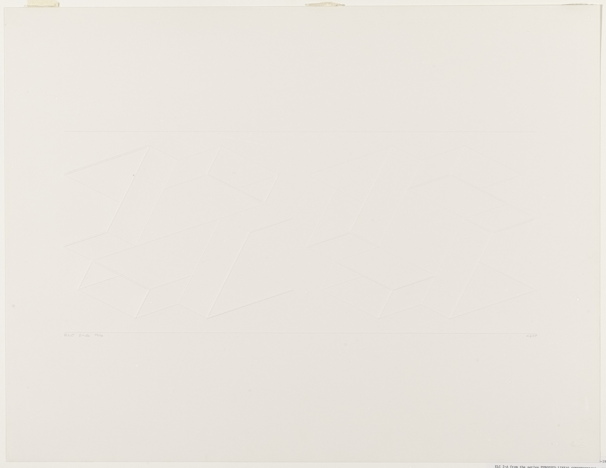 Josef Albers. ELC 2-A from Embossed Linear Constructions (ELC). 1969