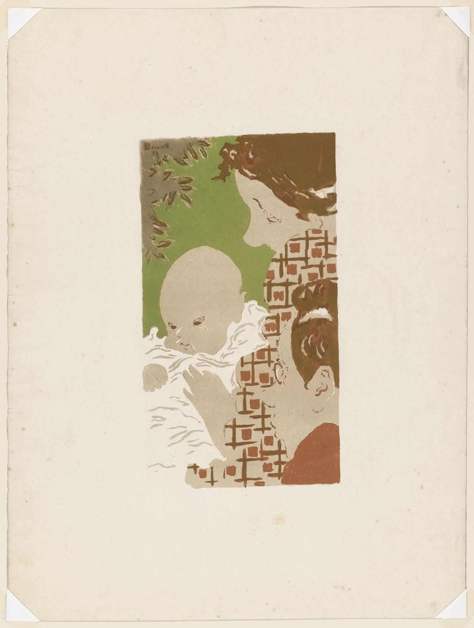 Pierre bonnard family scene scène de famille from the portfolio the original print lestampe originale no iii 1893