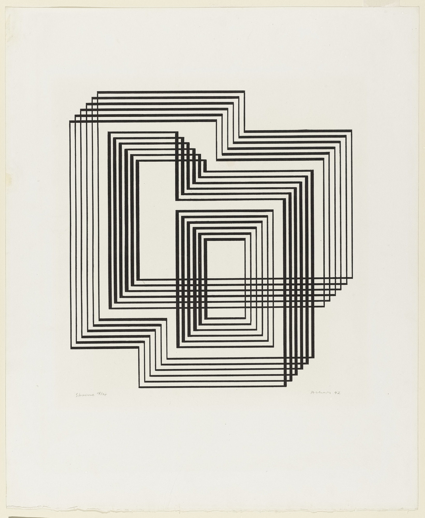 Josef Albers. Shrine from the series Graphic Tectonic. 1942