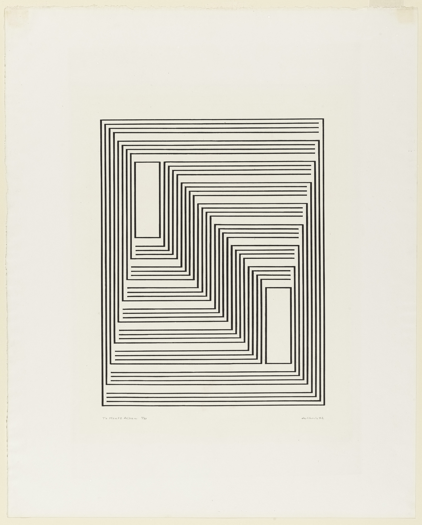 Josef Albers. To Monte Alban from the series Graphic Tectonic. 1942