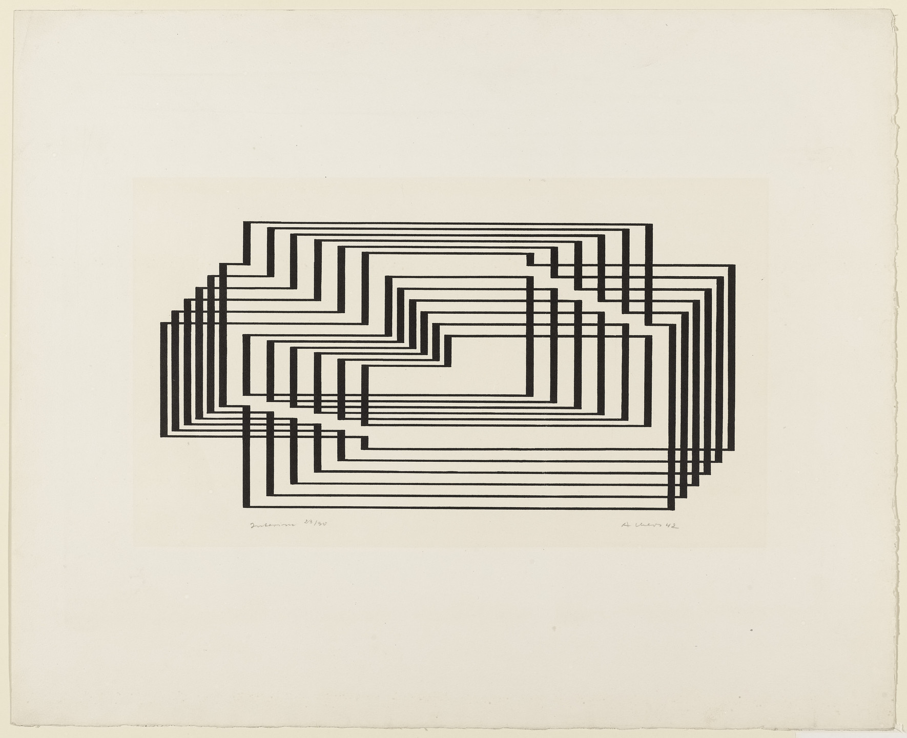 Josef Albers. Interim from the series Graphic Tectonic. 1942