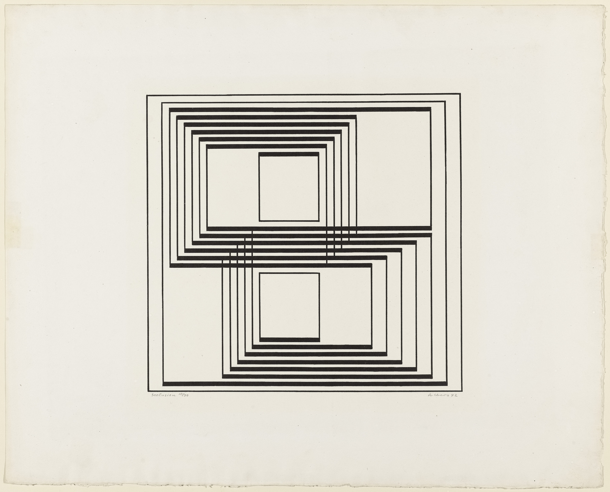 Josef Albers. Seclusion from the series Graphic Tectonic. 1942