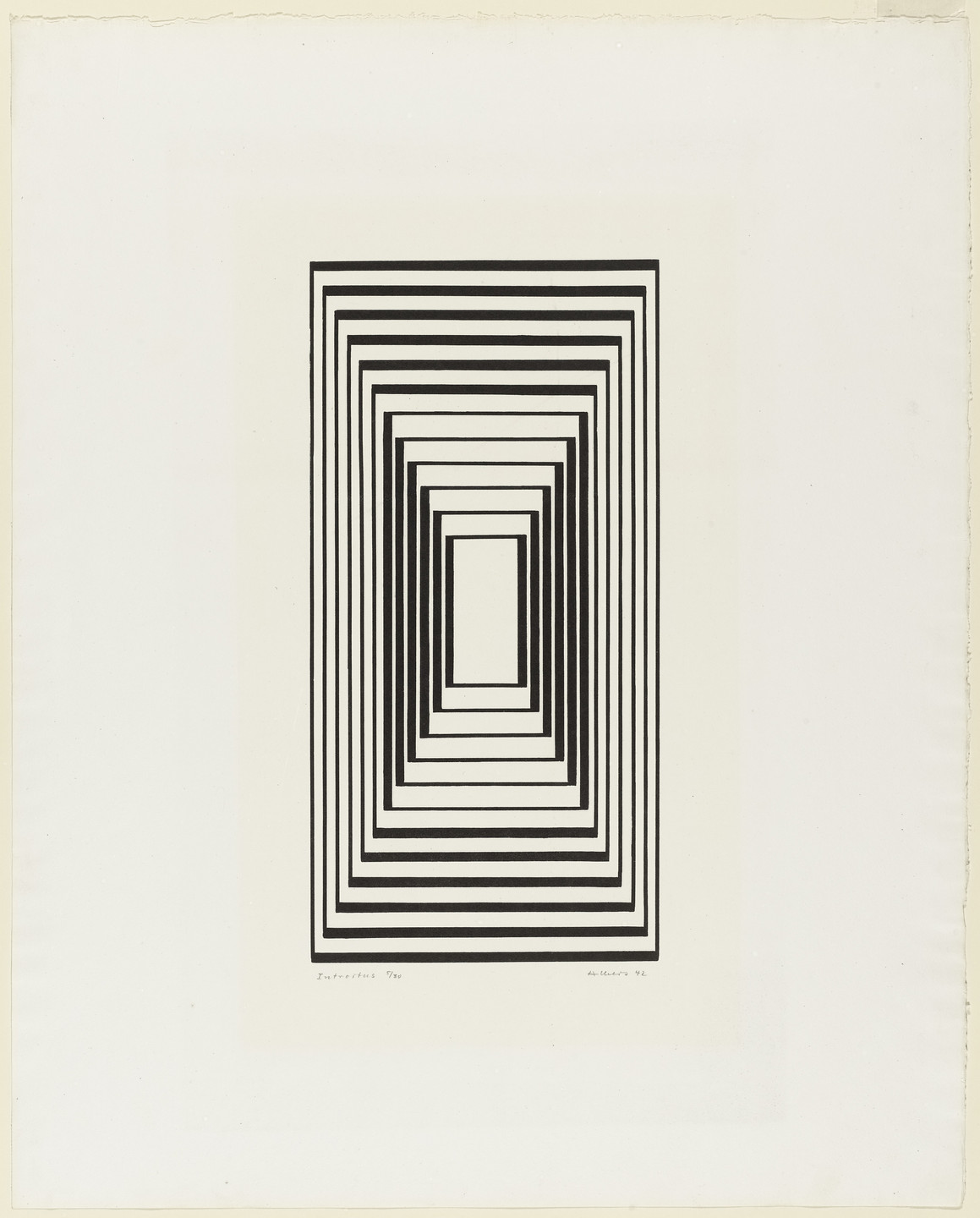 Josef Albers. Introitus (Dedication) from the series Graphic Tectonic. 1942