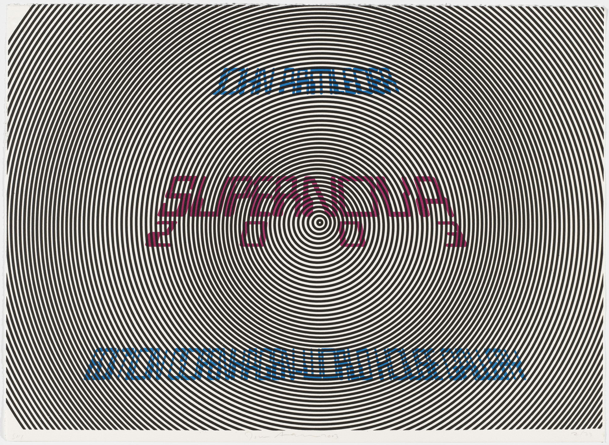 John Armleder. Title page from Supernova. 2003