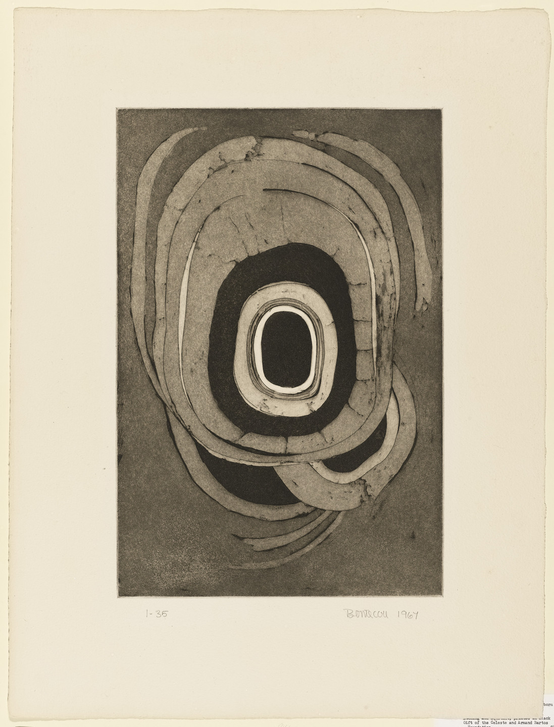 Lee Bontecou. Etching One. 1967