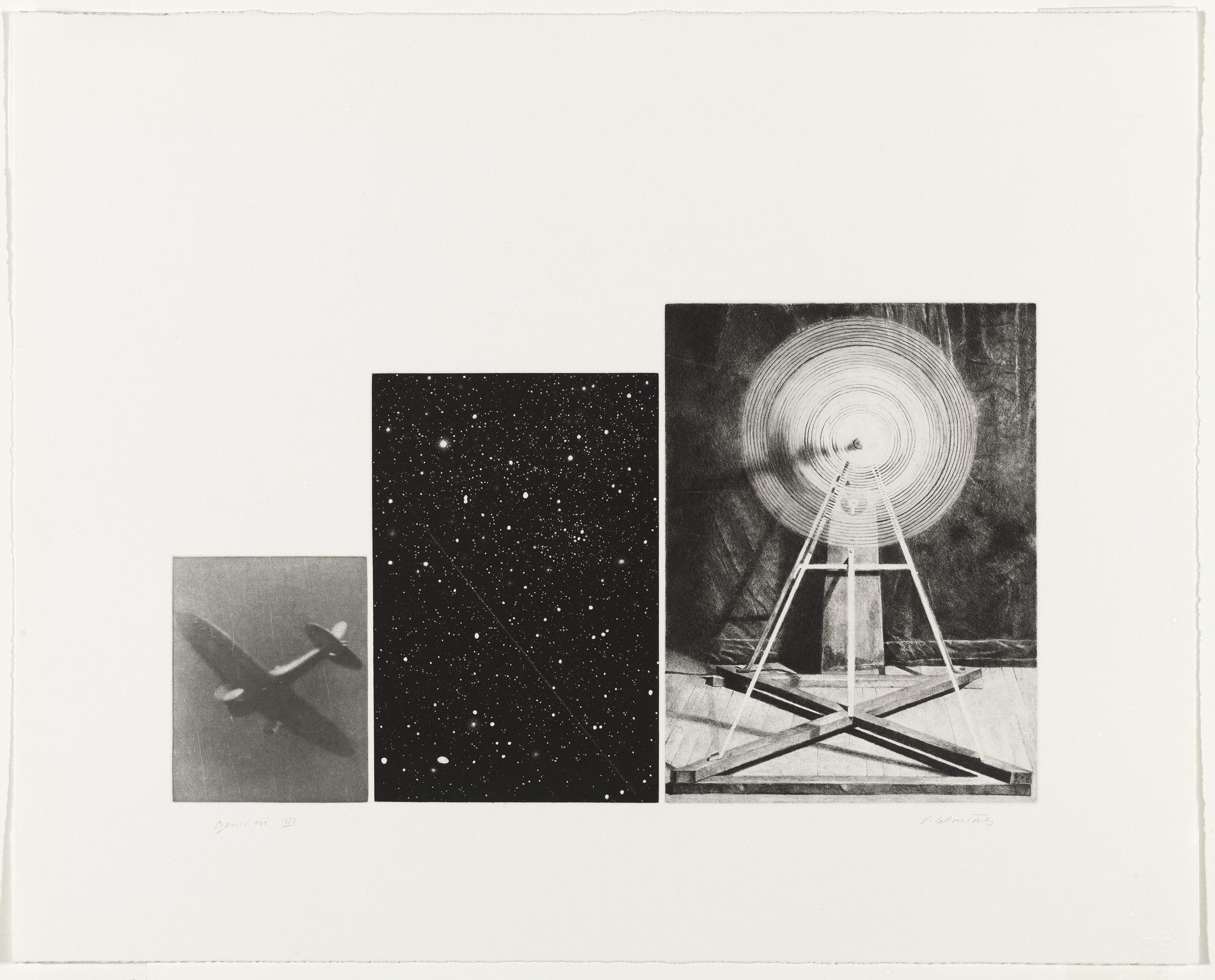 Vija Celmins. Concentric Bearings, D. 1985