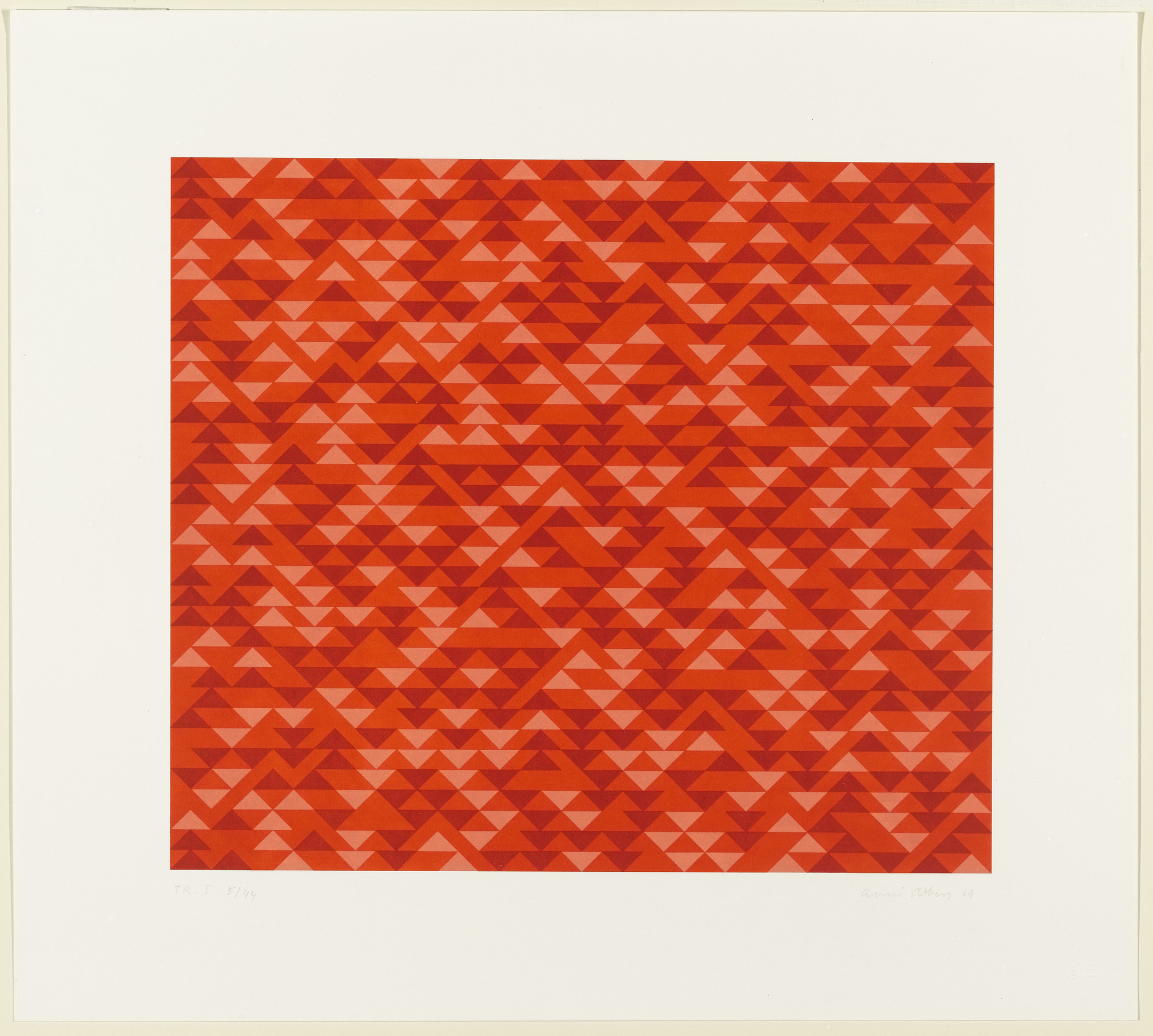 Anni Albers. TR I. 1969, published 1970