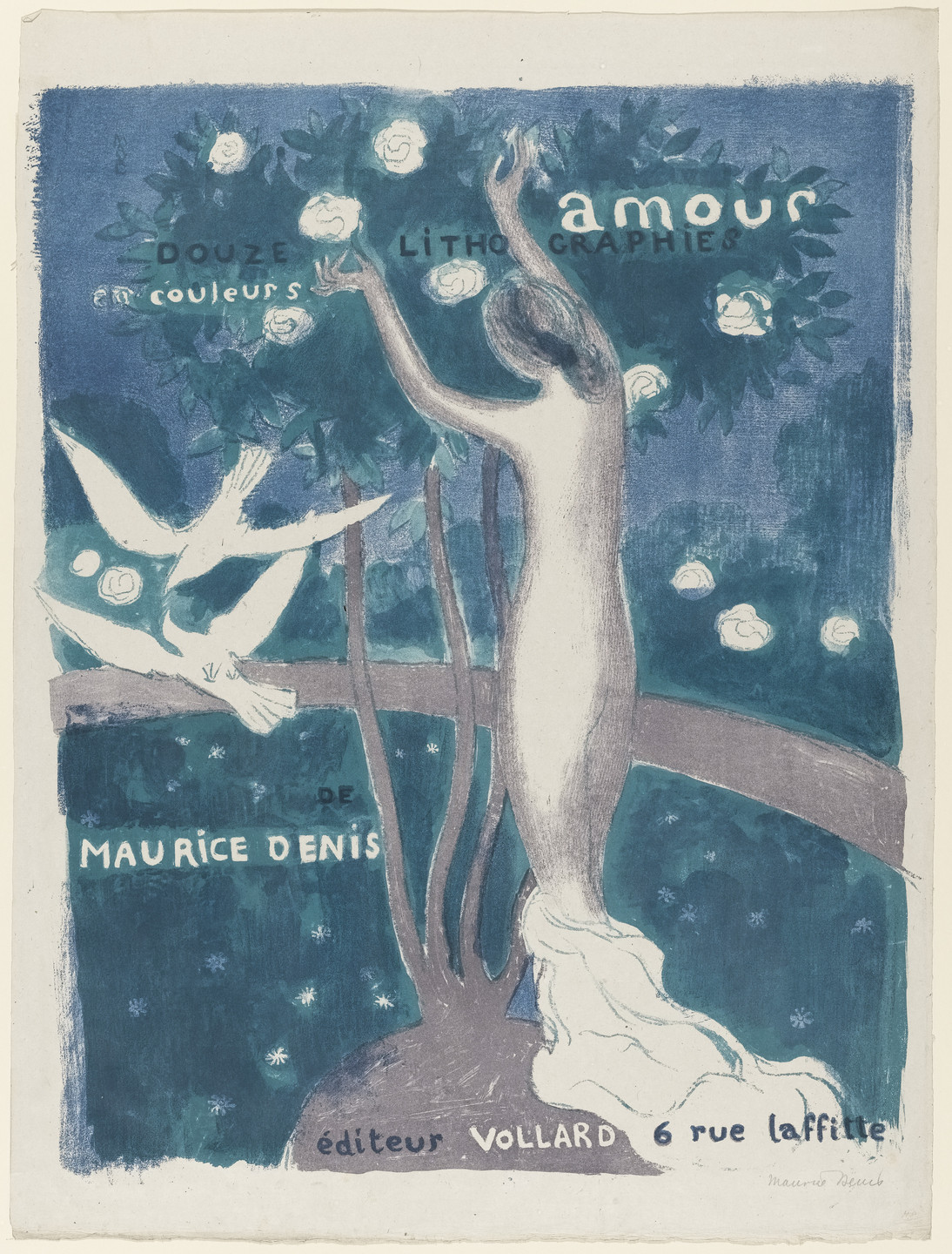 Maurice Denis. Title page from the portfolio Love (Amour). (1899)
